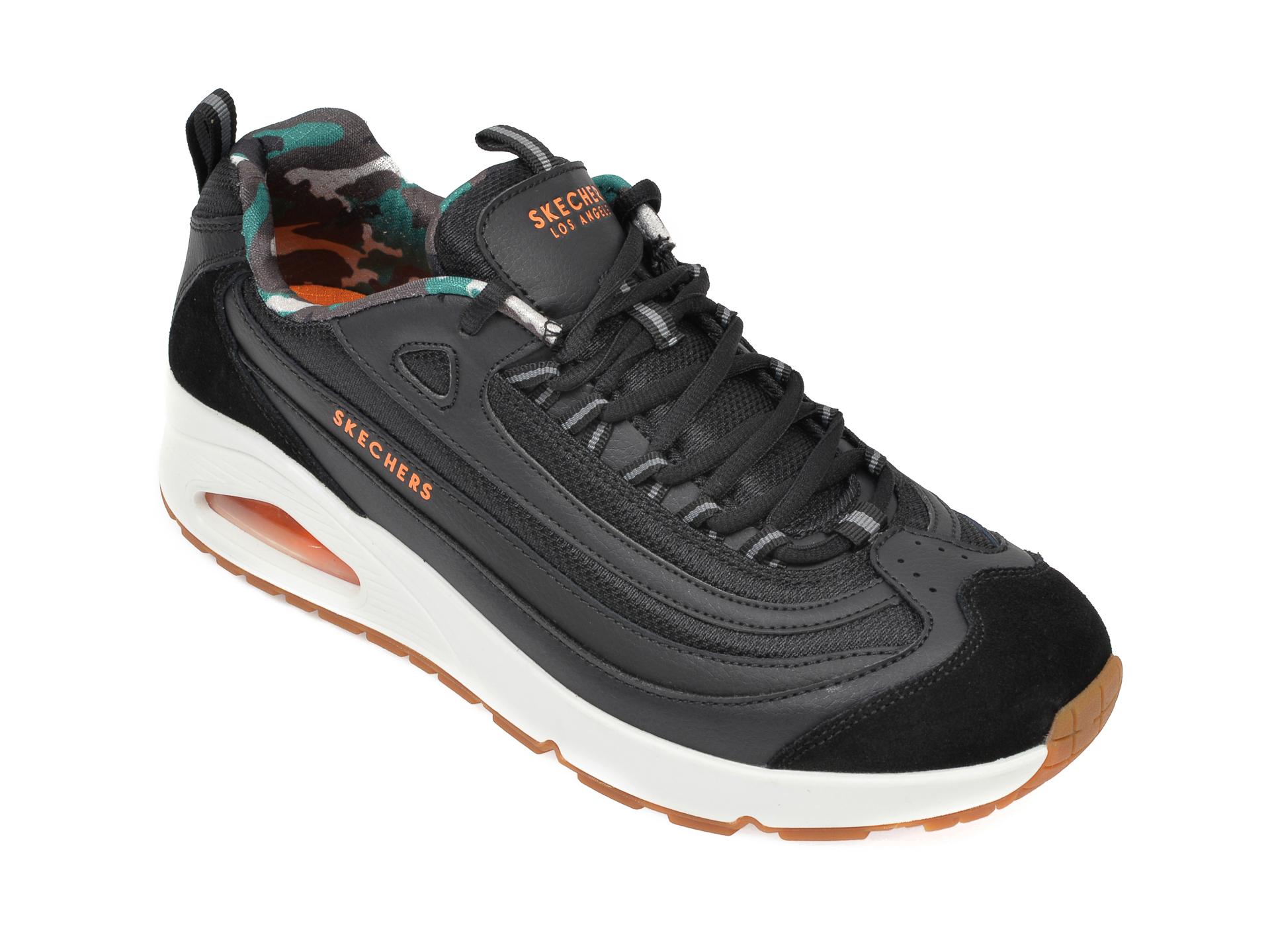 Pantofi sport SKECHERS negri, Uno, din piele naturala imagine