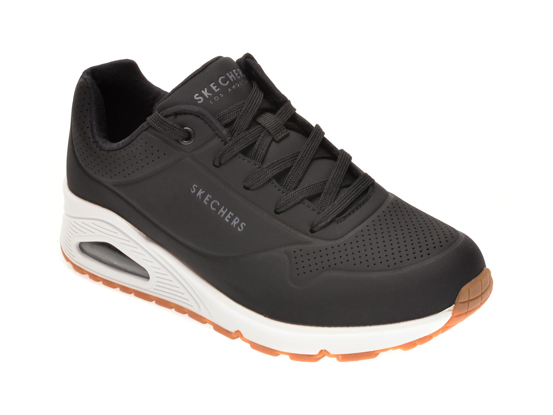 Pantofi sport SKECHERS negri, UNO STAND ON AIR, din piele ecologica imagine