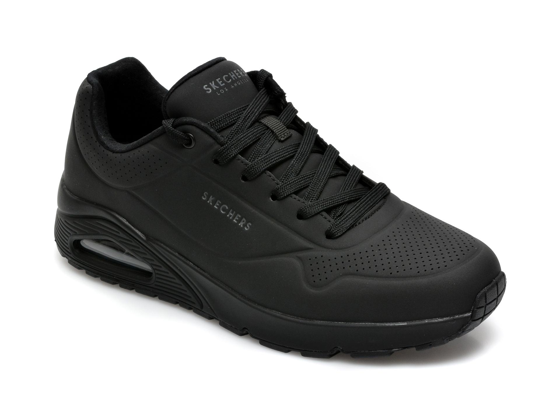 Pantofi sport SKECHERS negri, Unostand On Air, din piele ecologica imagine