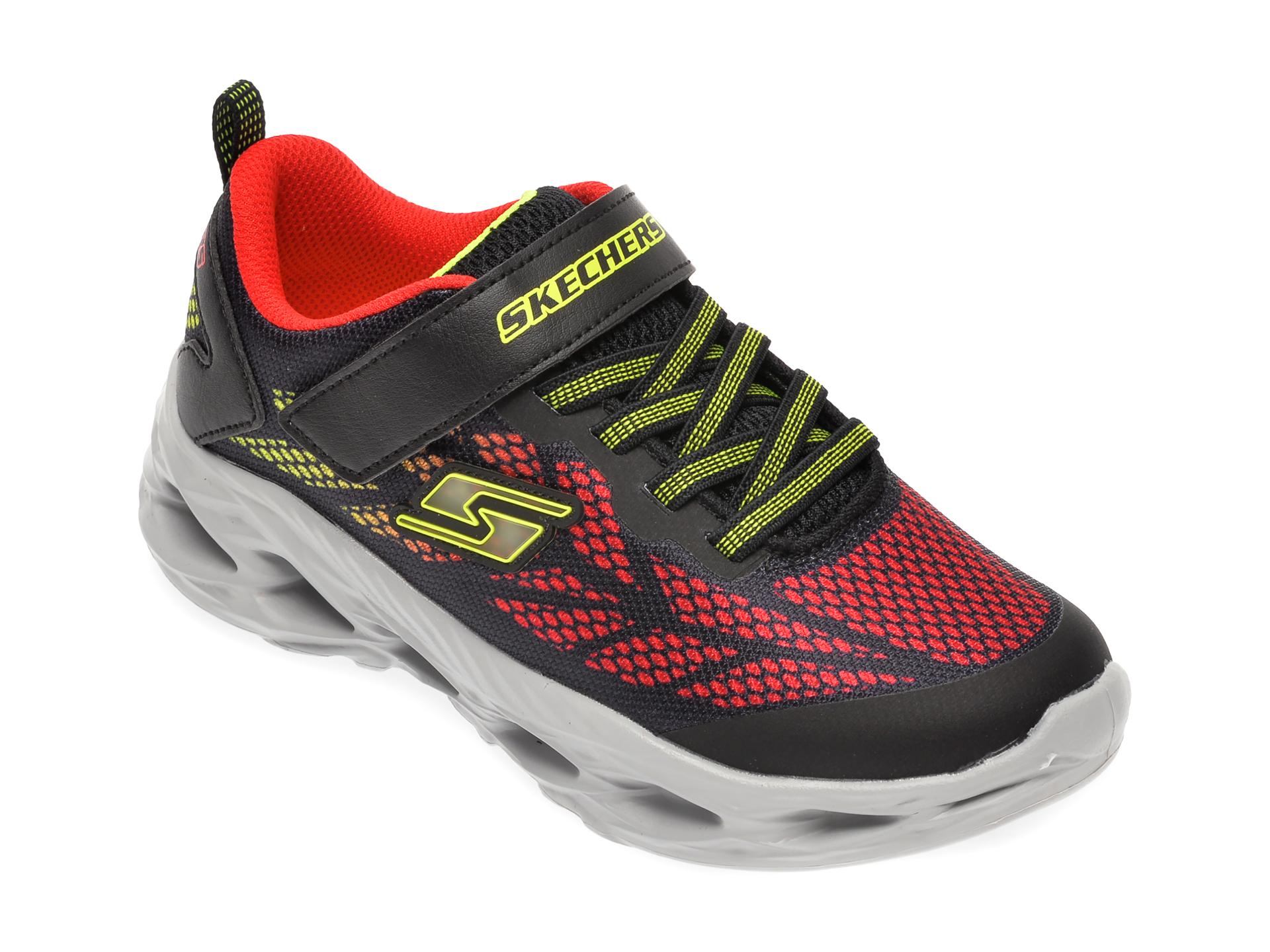 Pantofi sport SKECHERS negri, Vortex-Flash, din material textil imagine
