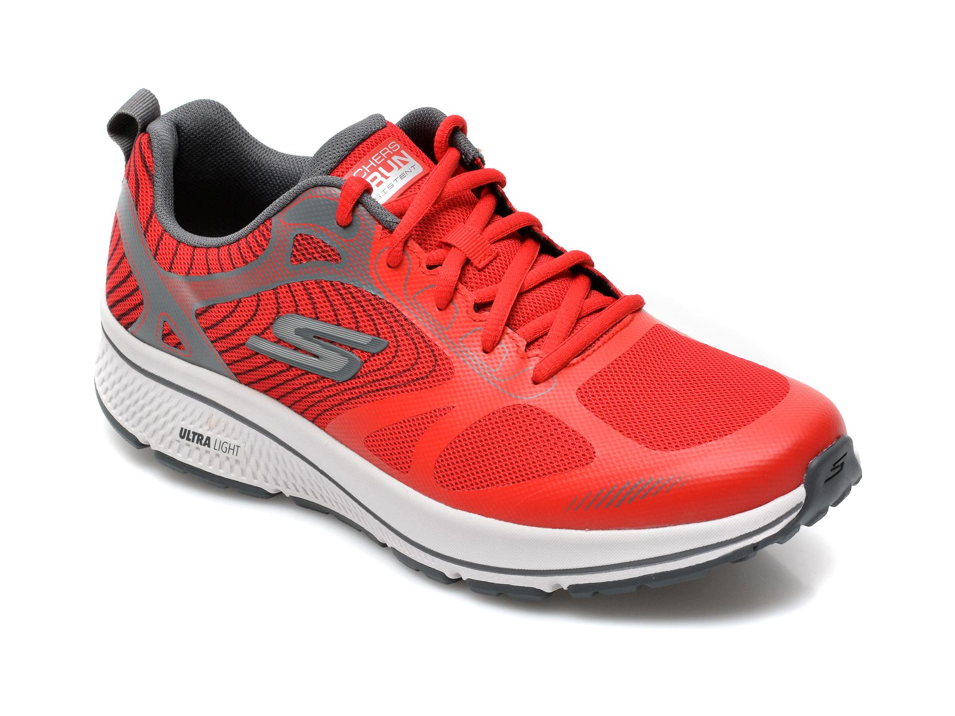 Pantofi sport SKECHERS rosii, Go Run Consistentfleet Rush, din piele ecologica imagine
