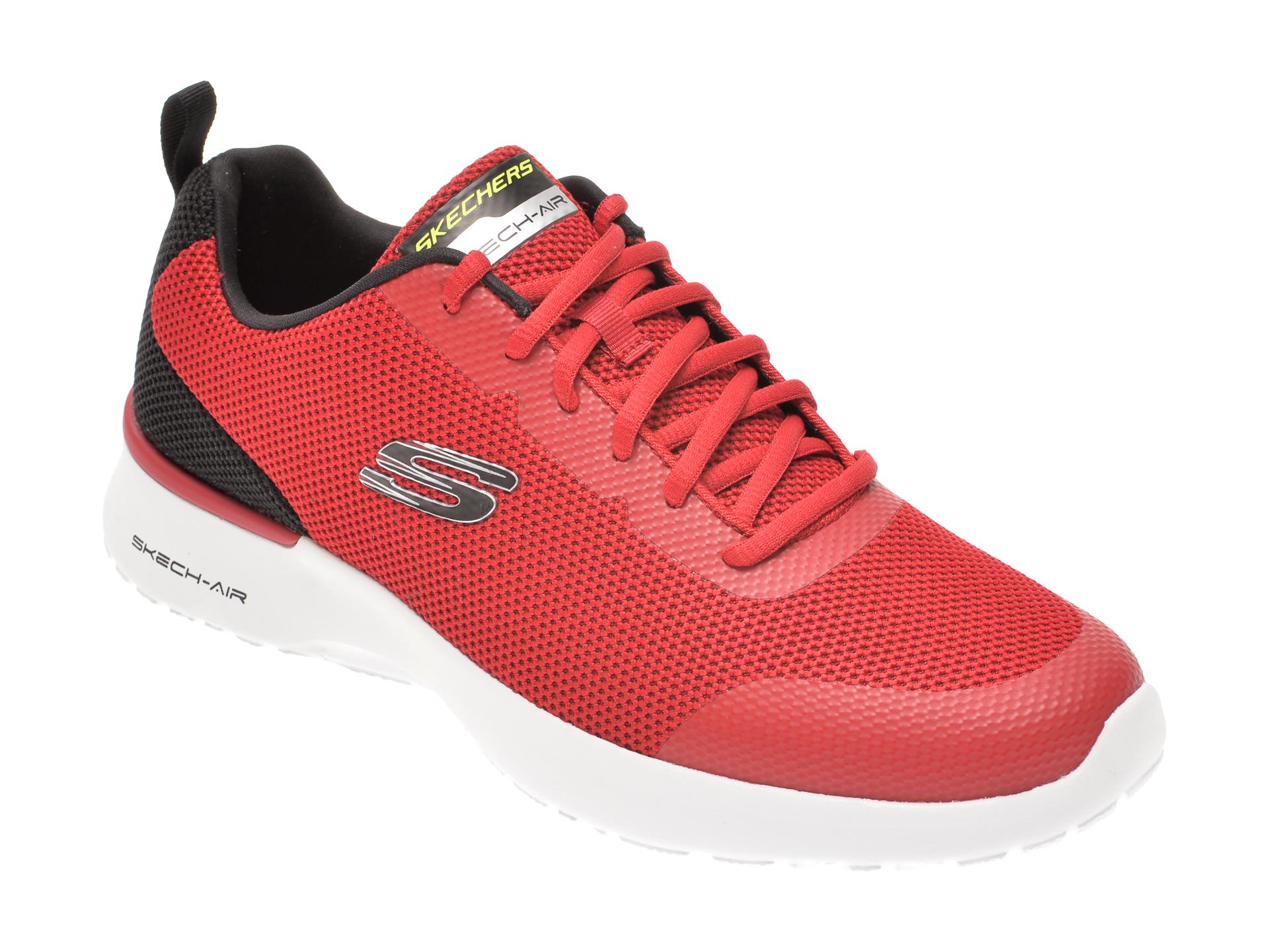 Pantofi sport SKECHERS rosii, SKECH-AIR DYNAMIGHT WINLY, din material textil imagine