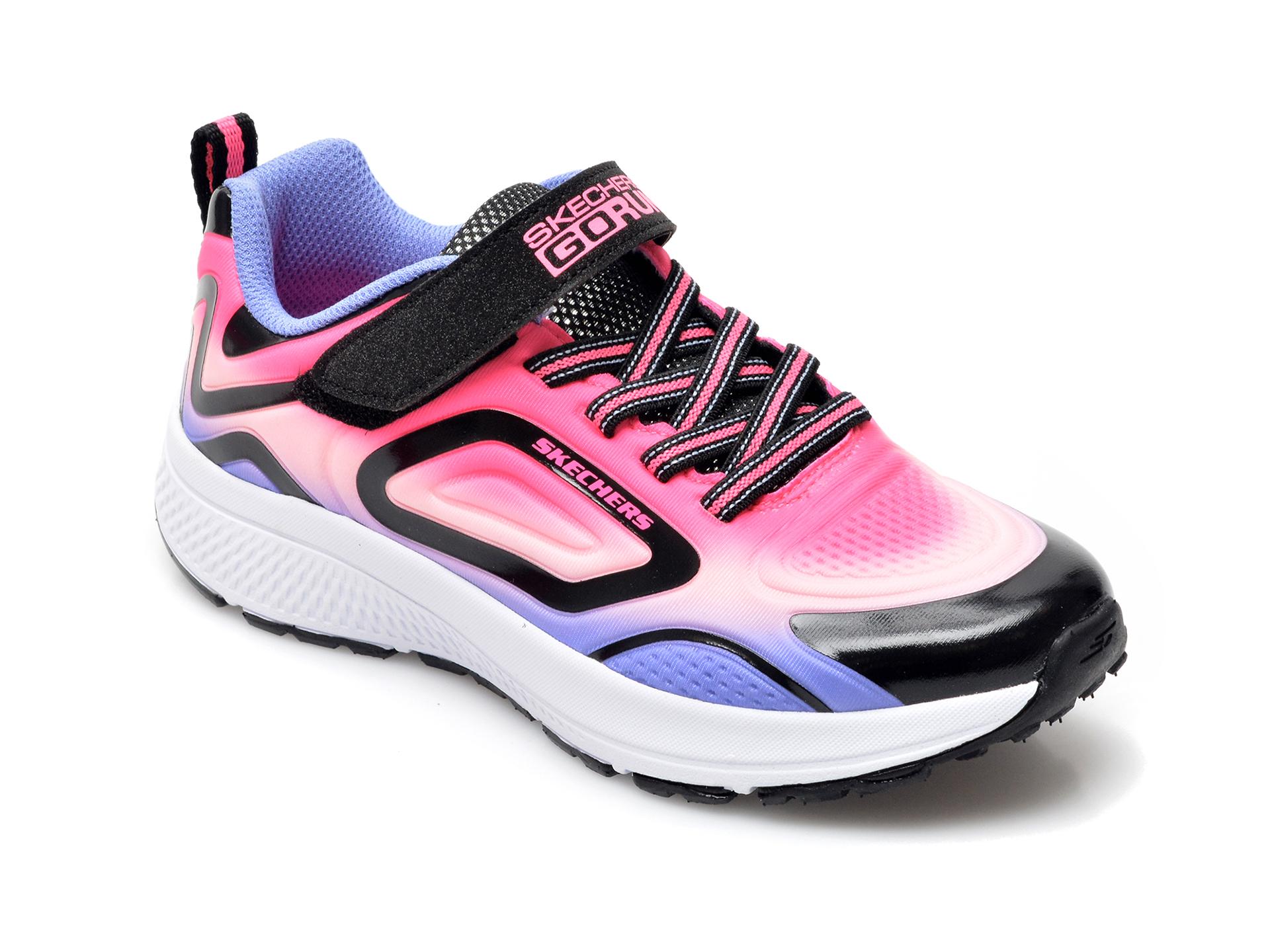 Pantofi sport SKECHERS roz, 302400L, din material textil si piele ecologica imagine otter.ro