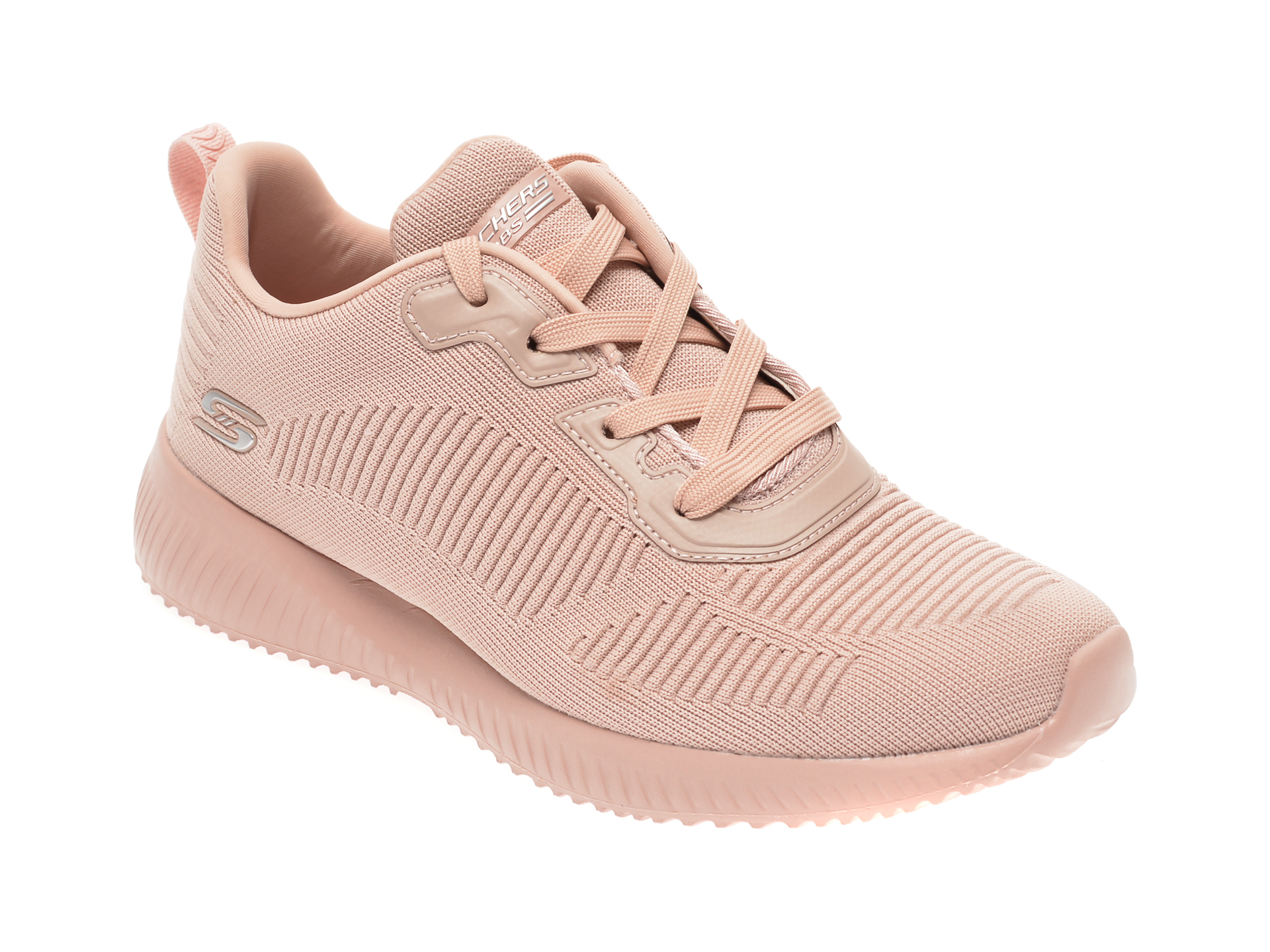 Pantofi sport SKECHERS roz, Bobs Squad Tough Talk, din material textil