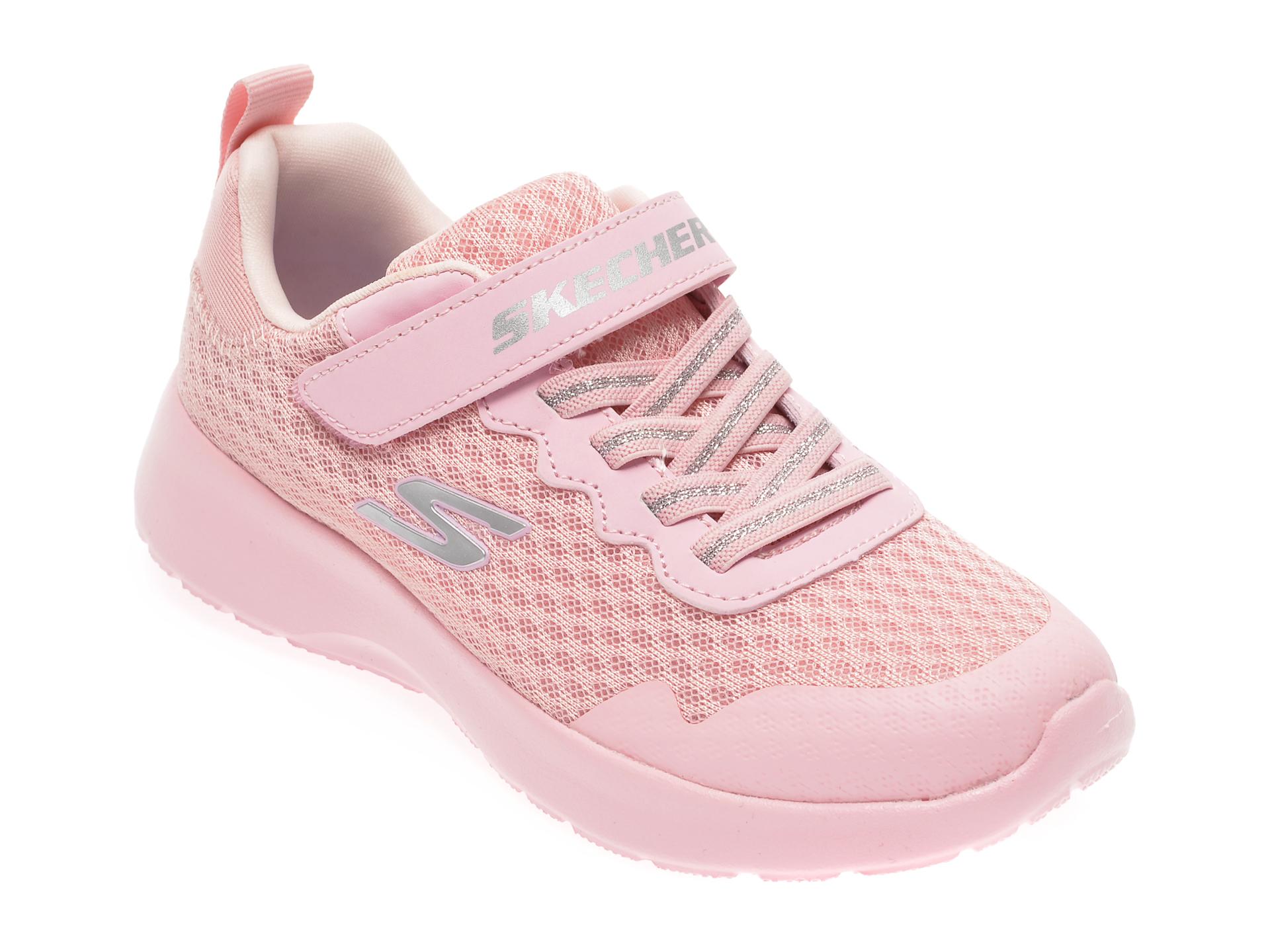 Pantofi sport SKECHERS roz, Dynamight Lead Runner, din material textil New