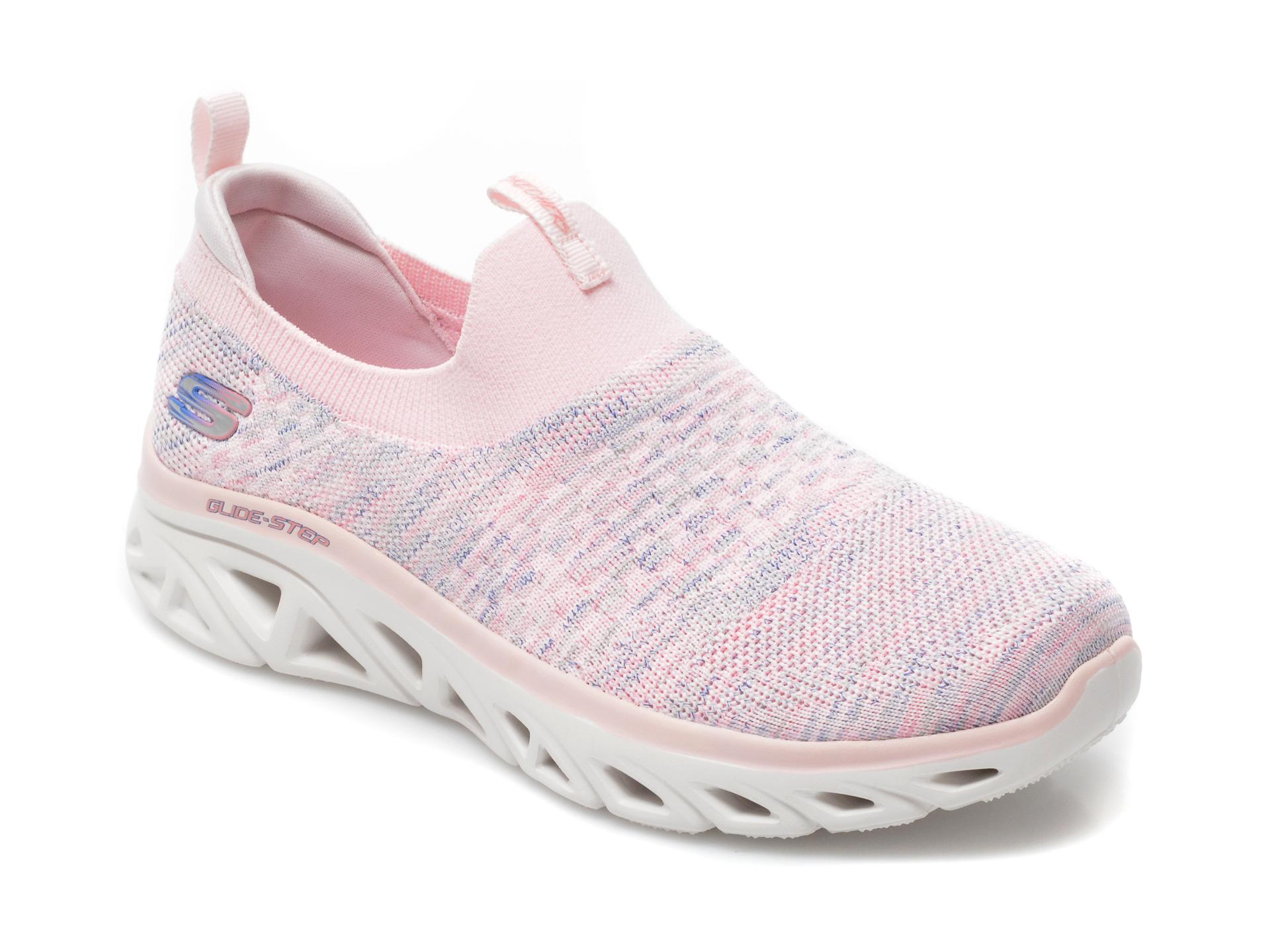 Pantofi sport SKECHERS roz, Glide-Step Sport, din material textil imagine 2021 otter.ro