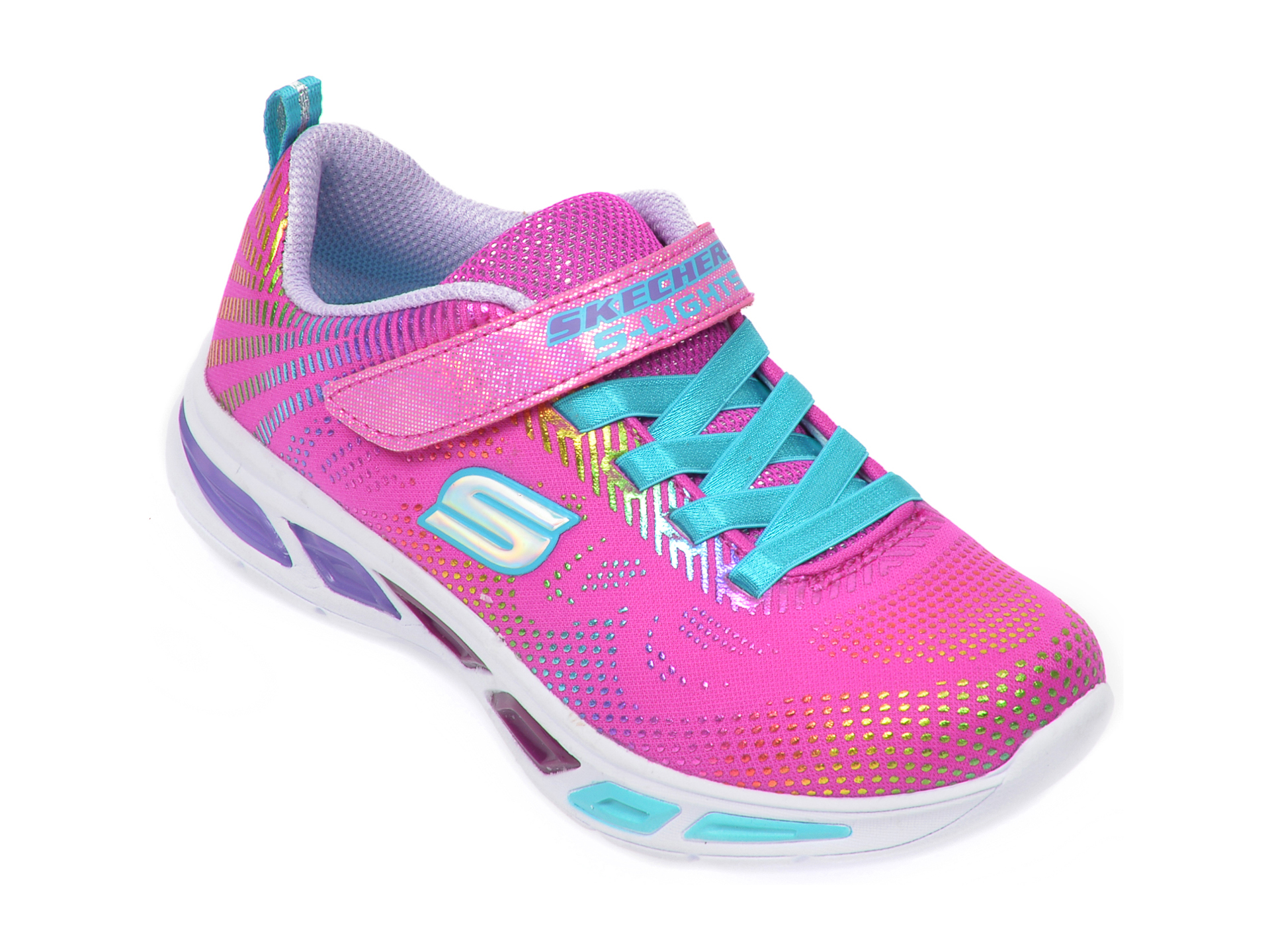 Pantofi sport SKECHERS roz, Litebeams Gleam N Dream, din material textil New
