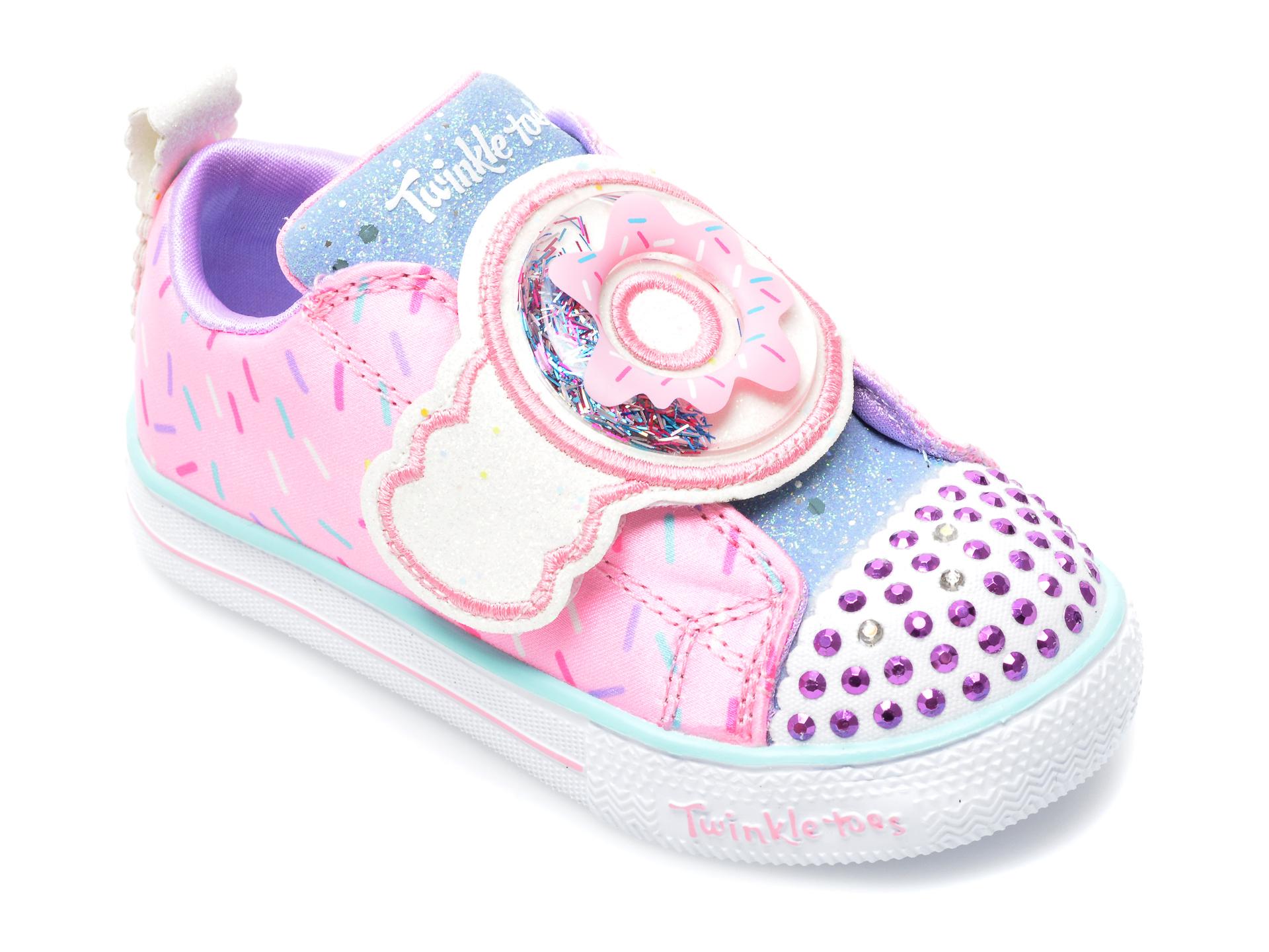 Pantofi sport SKECHERS roz, Shuffle Lite Sparkle Treats, din material textil