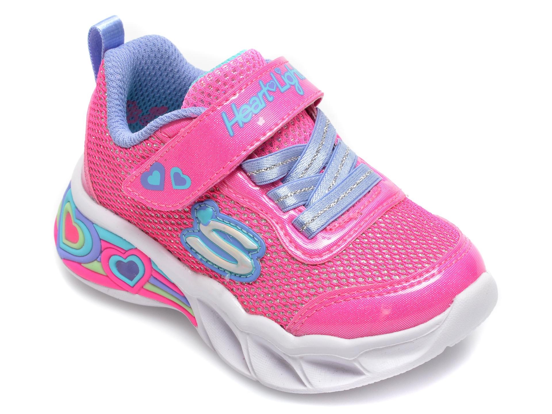 Pantofi sport SKECHERS roz, Sweetheart Lights Shimmer Spells, din piele ecologica