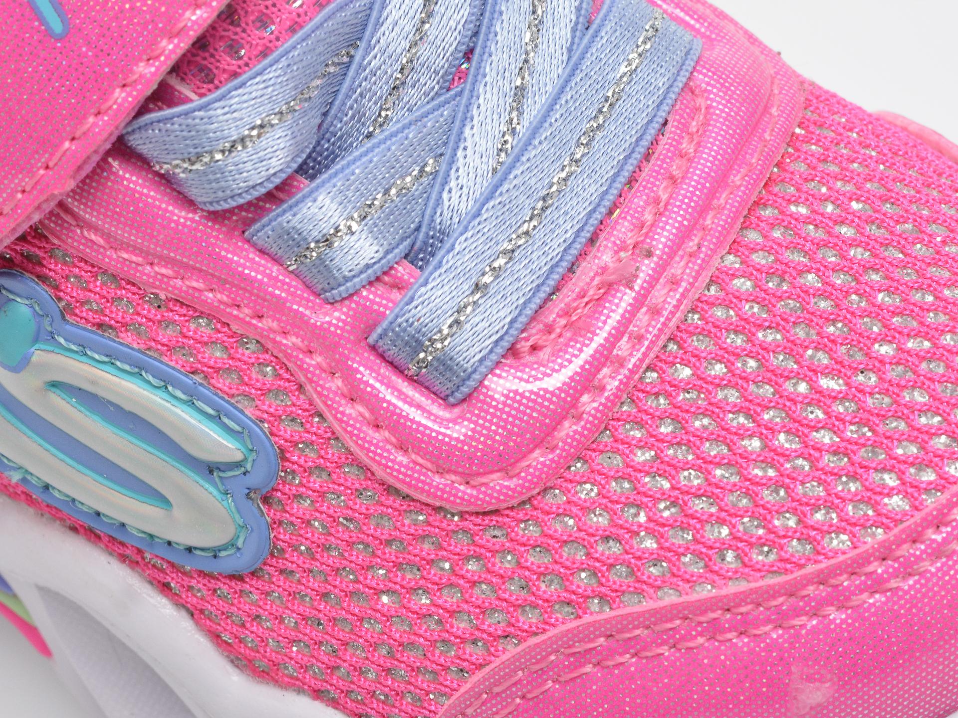 Pantofi sport SKECHERS roz, Sweetheart Lights Shimmer Spells, din piele ecologica - 2