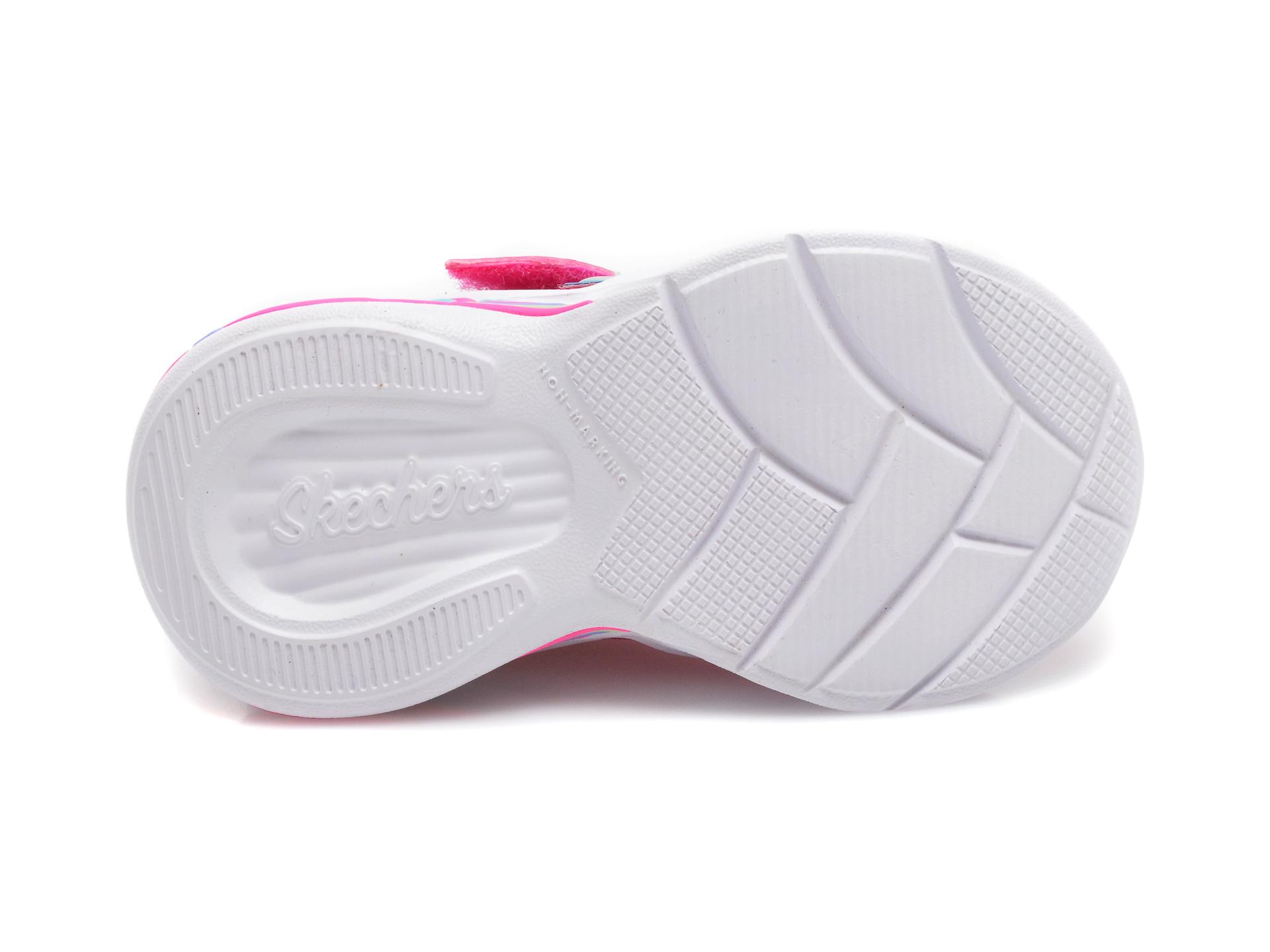 Pantofi sport SKECHERS roz, Sweetheart Lights Shimmer Spells, din piele ecologica - 7