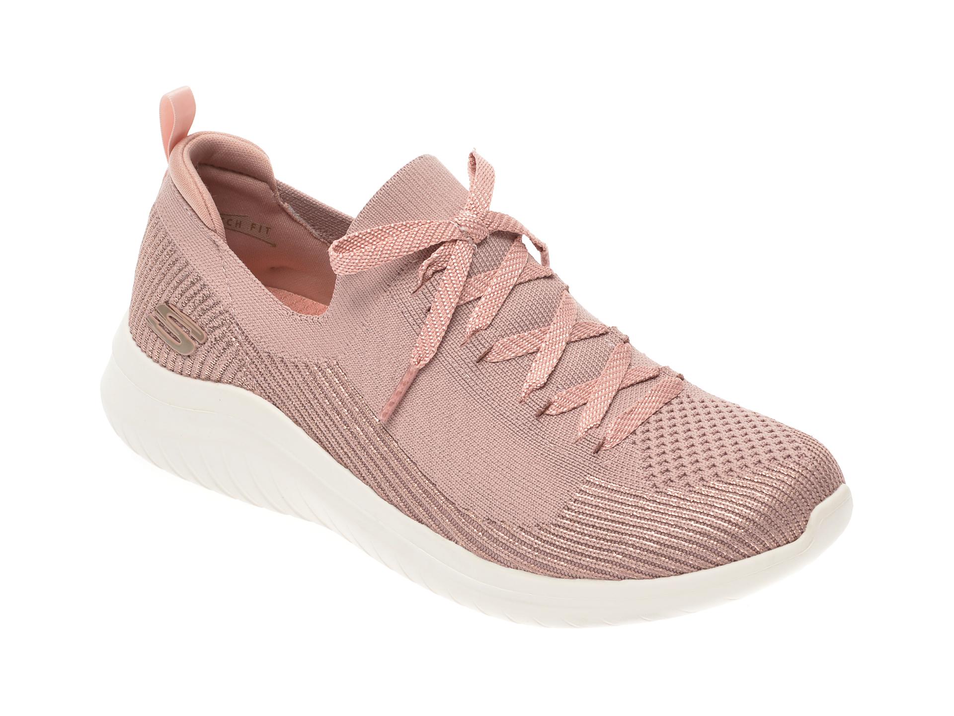 Pantofi sport SKECHERS roz, Ultra Flex 2.0, din material textil