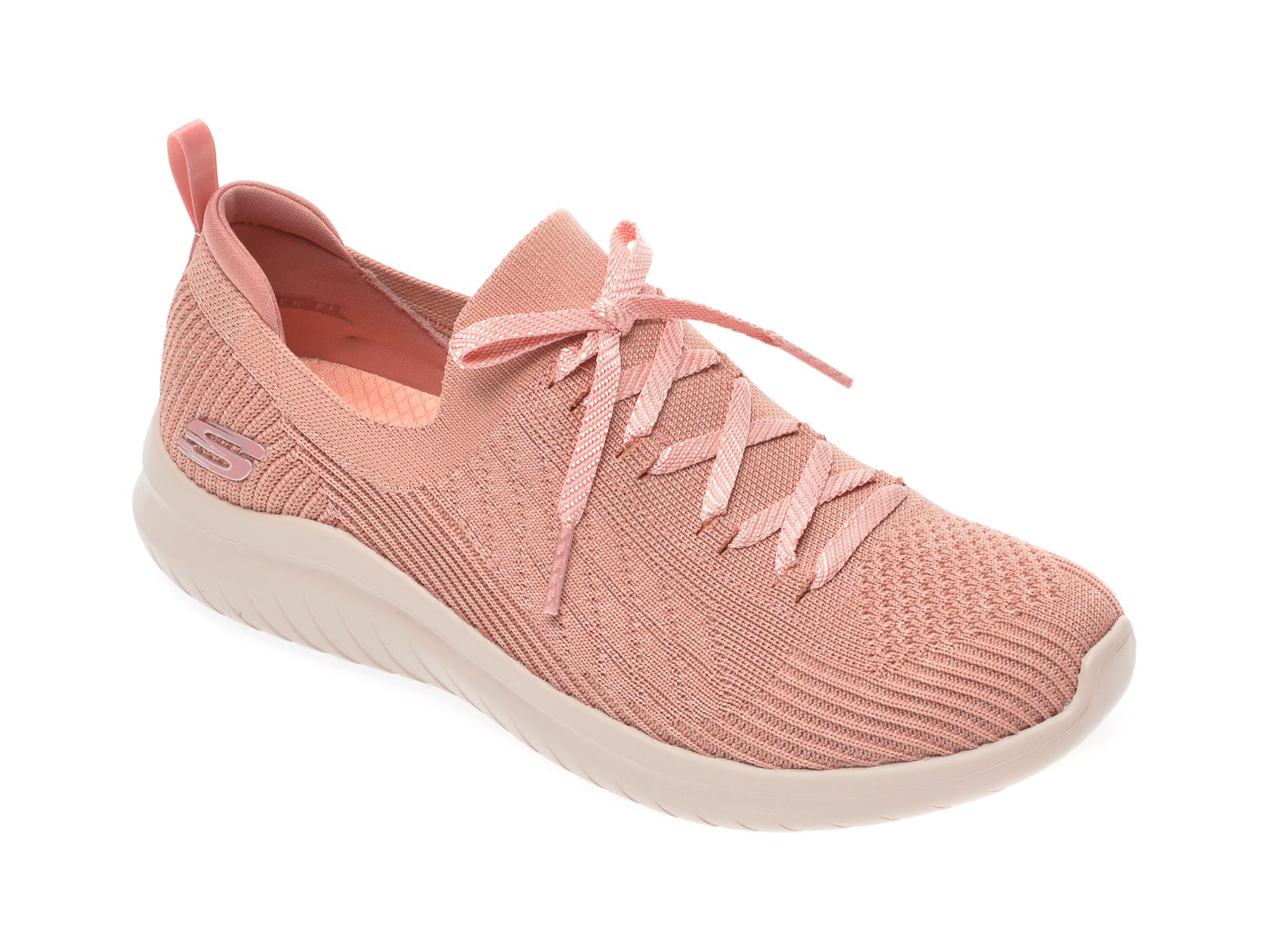 Pantofi sport SKECHERS roz, Ultra Flex 2.0, din material textil New
