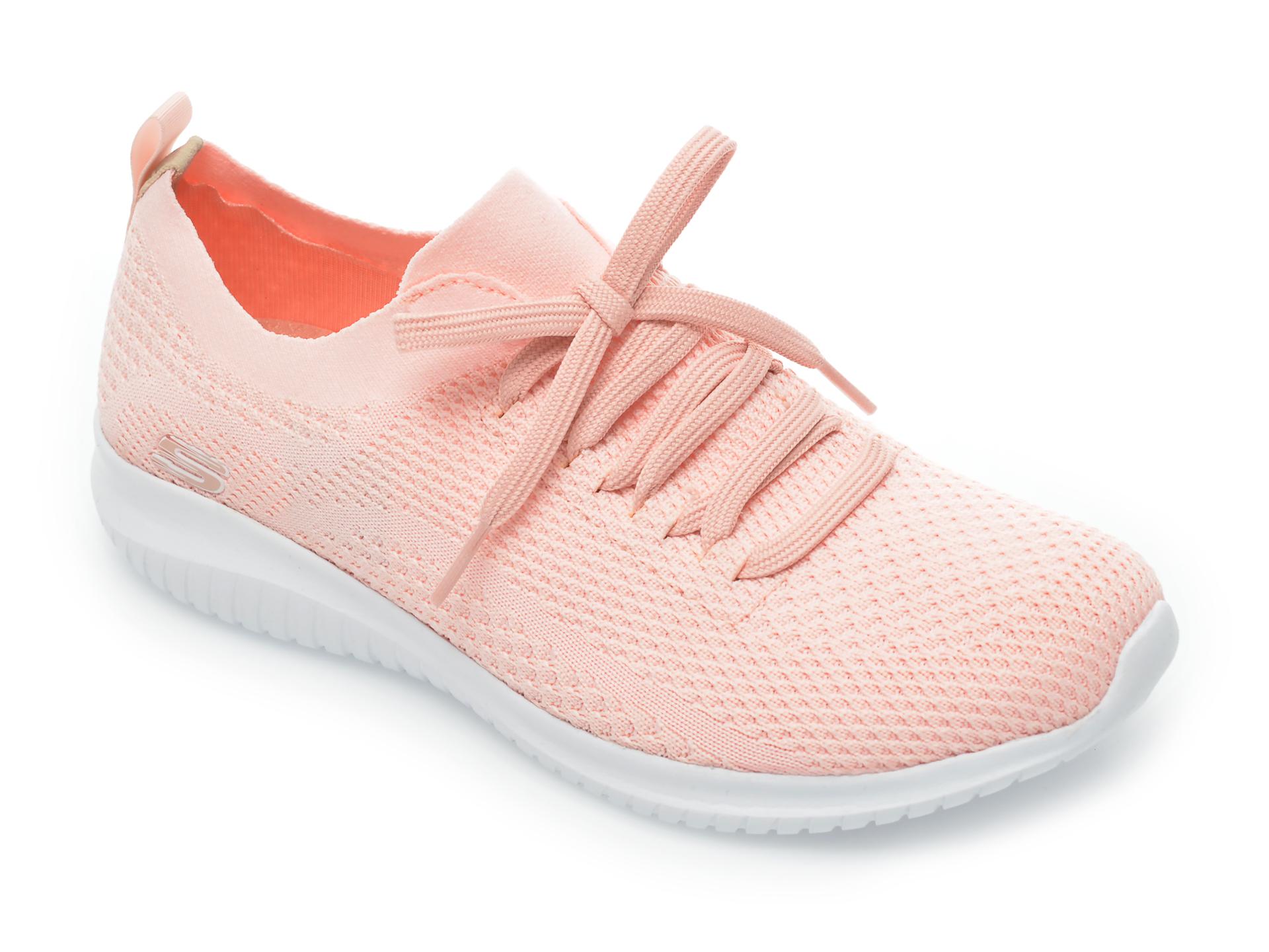 Pantofi sport SKECHERS roz, Ultra Flex Statements, din material textil New