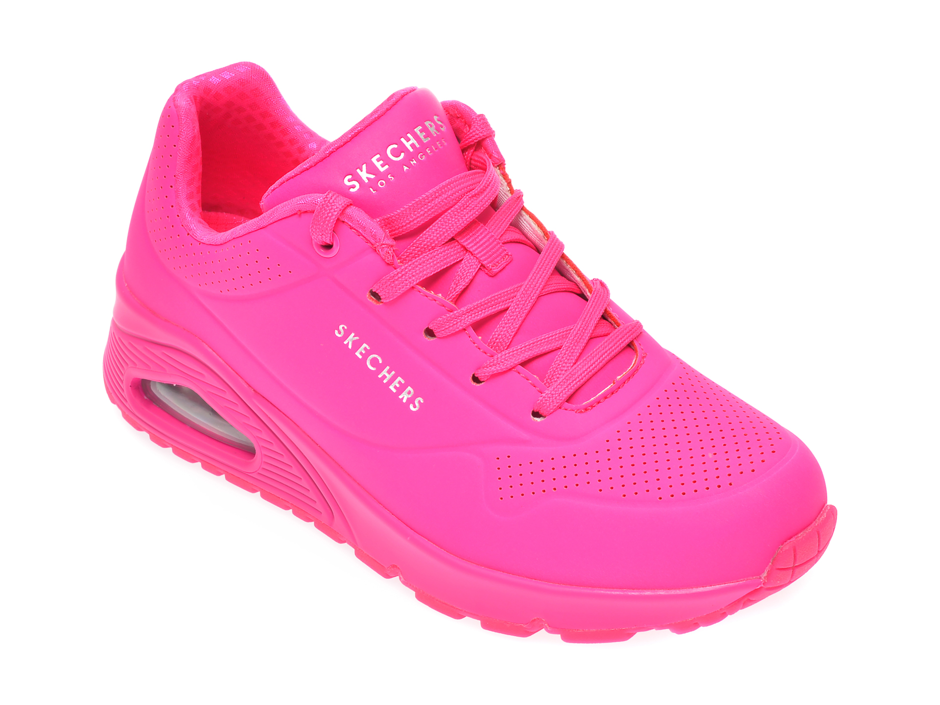 Pantofi sport SKECHERS roz, Uno Night Shades, din piele ecologica New