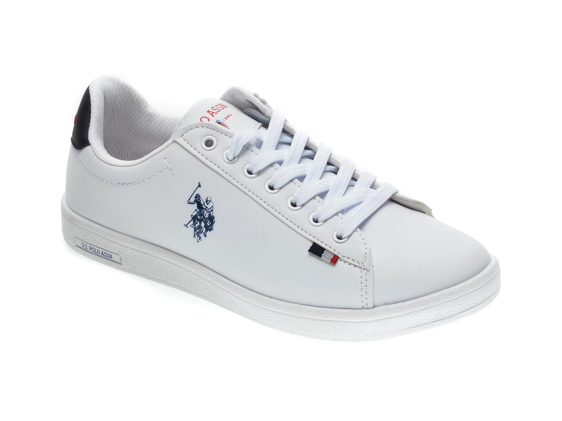 Pantofi sport US POLO ASSN albi, 249587, din piele ecologica imagine