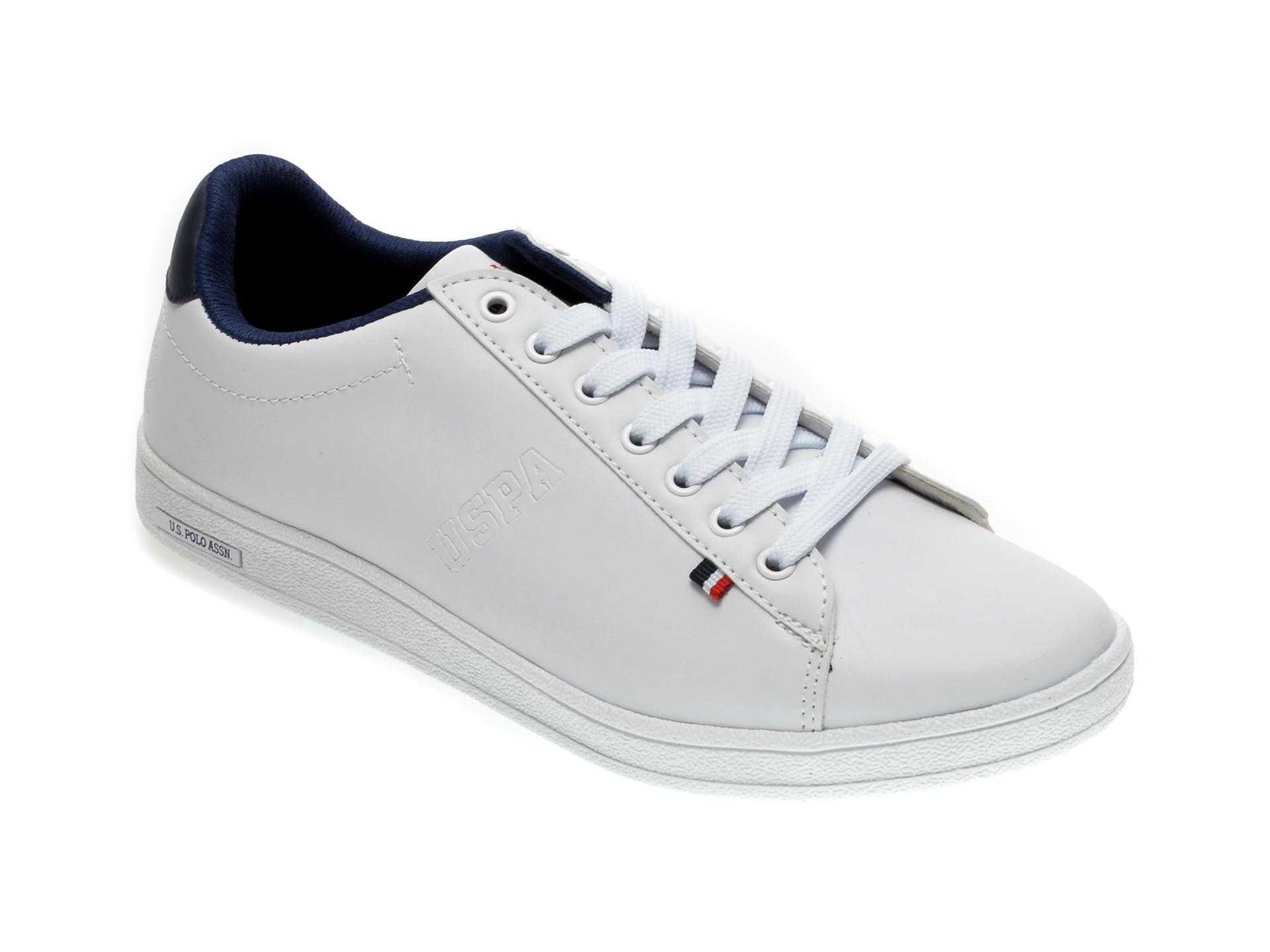 Pantofi sport US POLO ASSN albi, 249743, din piele ecologica imagine