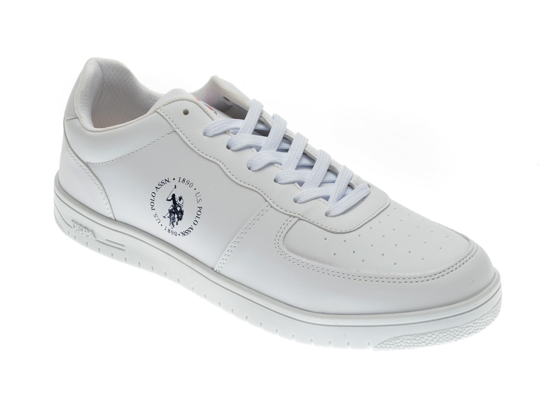 Pantofi sport US POLO ASSN albi, 325940, din piele ecologica imagine