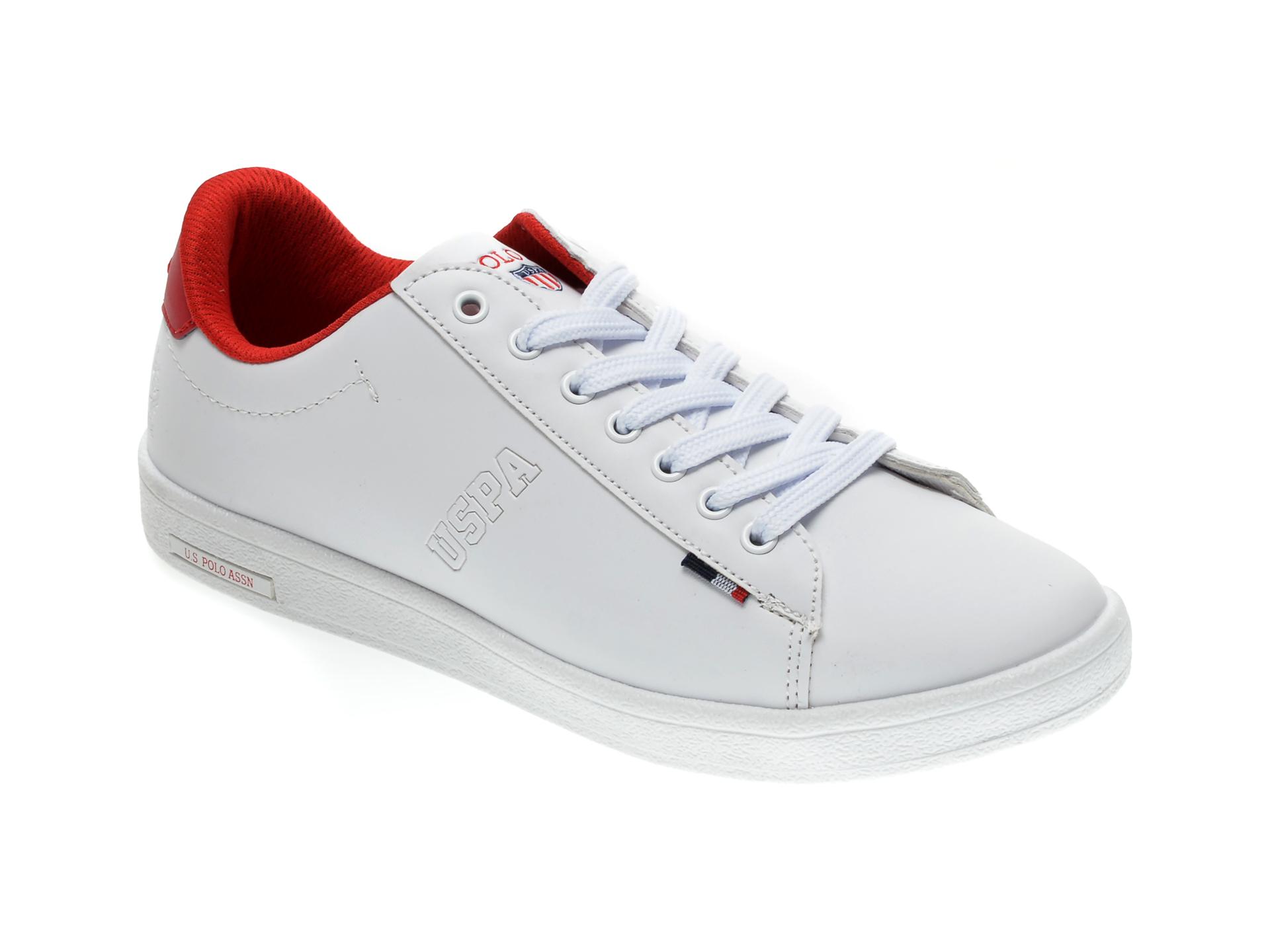 Pantofi sport US POLO ASSN albi, 327264, din piele ecologica imagine