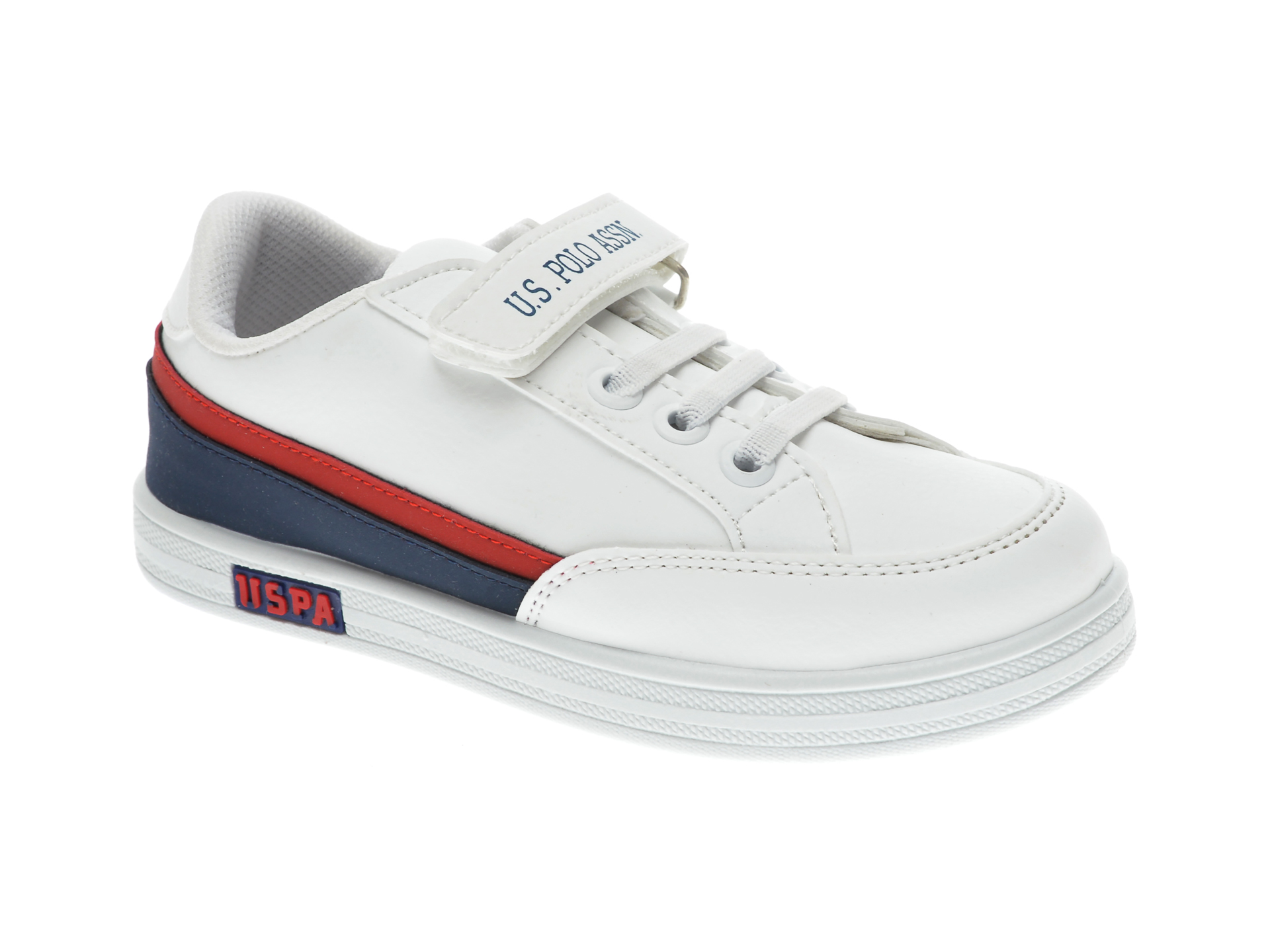 Pantofi sport US POLO ASSN albi, 429391, din piele ecologica imagine