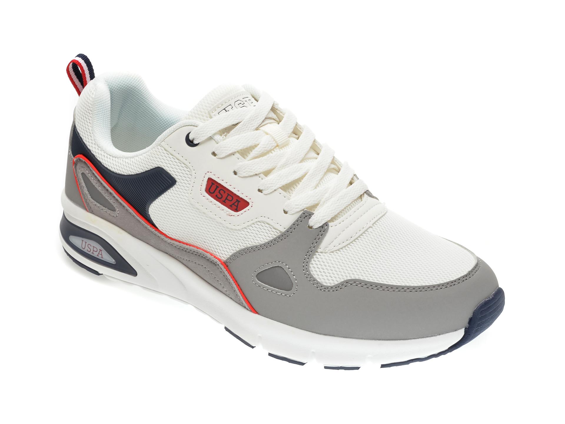Pantofi sport US POLO ASSN albi, 489896, din piele ecologica imagine
