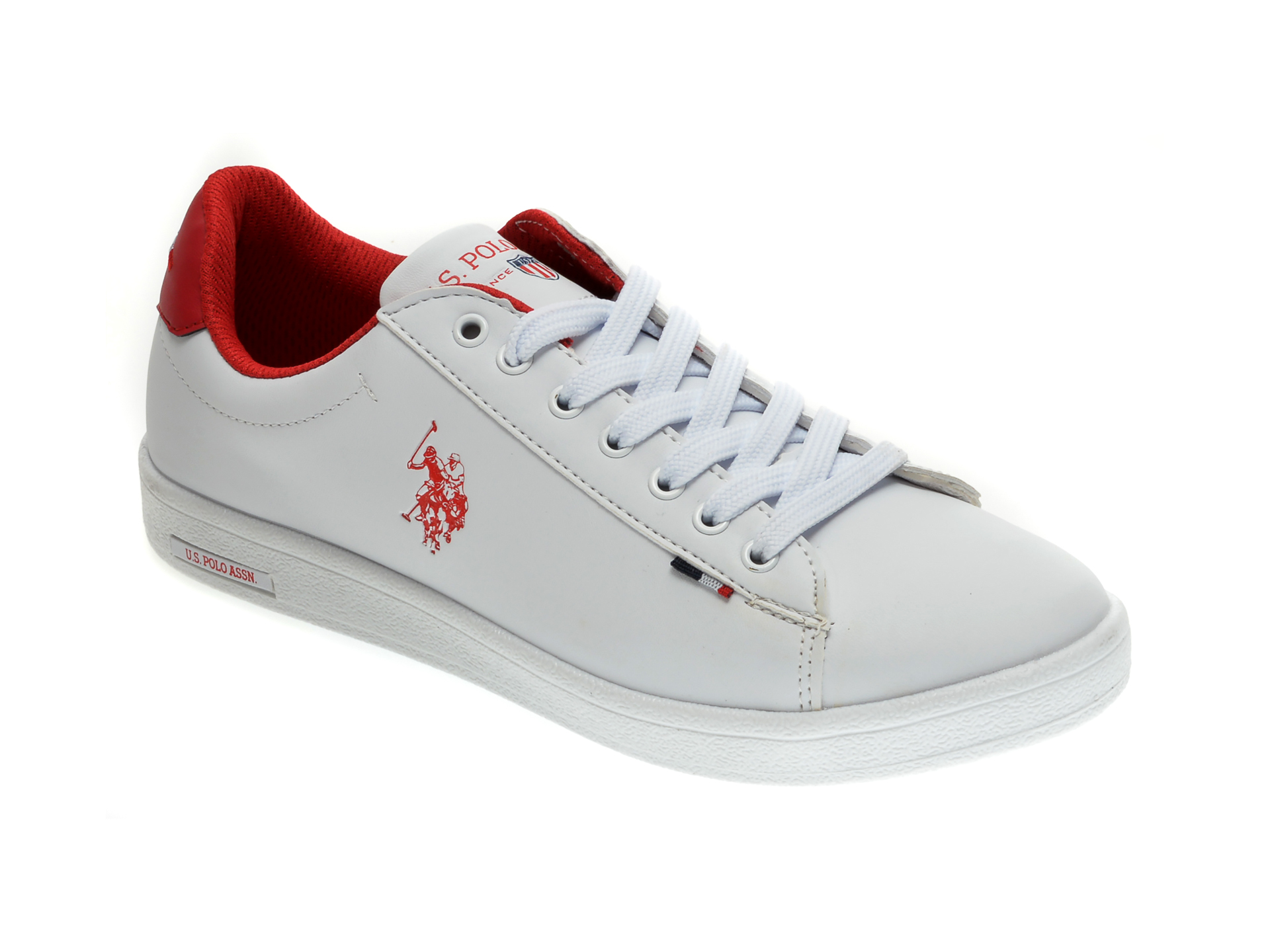 Pantofi sport US POLO ASSN albi, 548973, din piele ecologica imagine