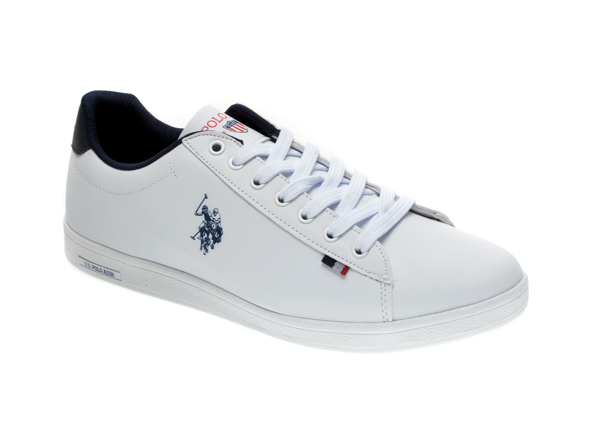 Pantofi sport US POLO ASSN albi, 548978, din piele ecologica imagine