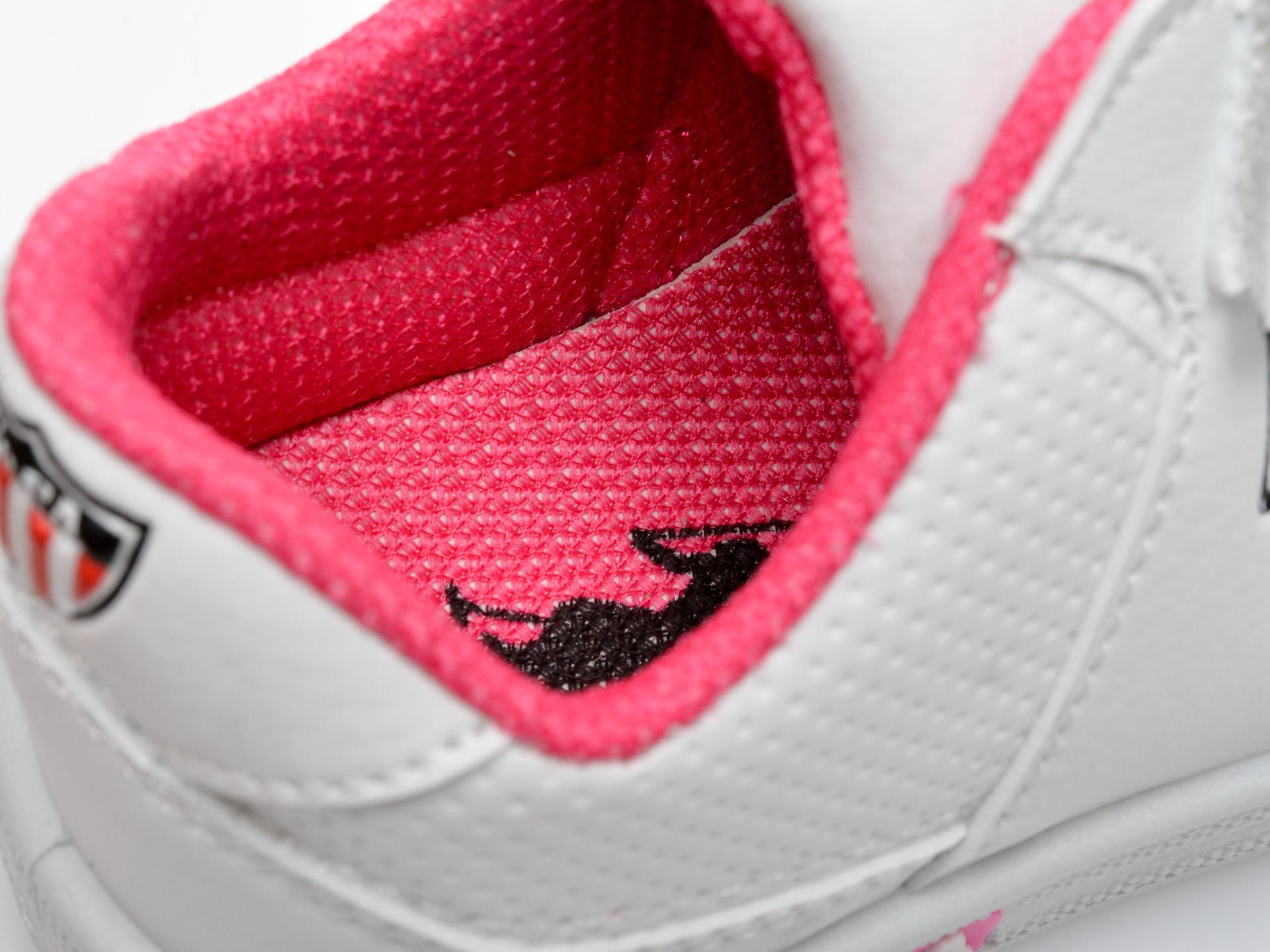 Pantofi sport US POLO ASSN albi, CAME1FX, din piele ecologica - 3
