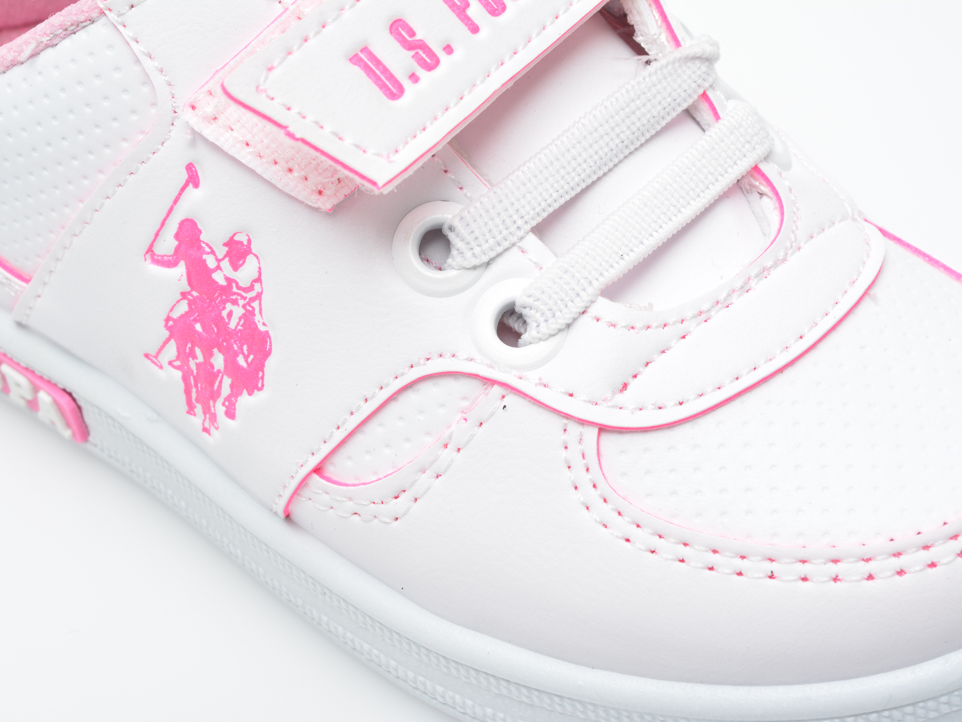 Pantofi sport US POLO ASSN albi, CAME1FX, din piele ecologica - 2