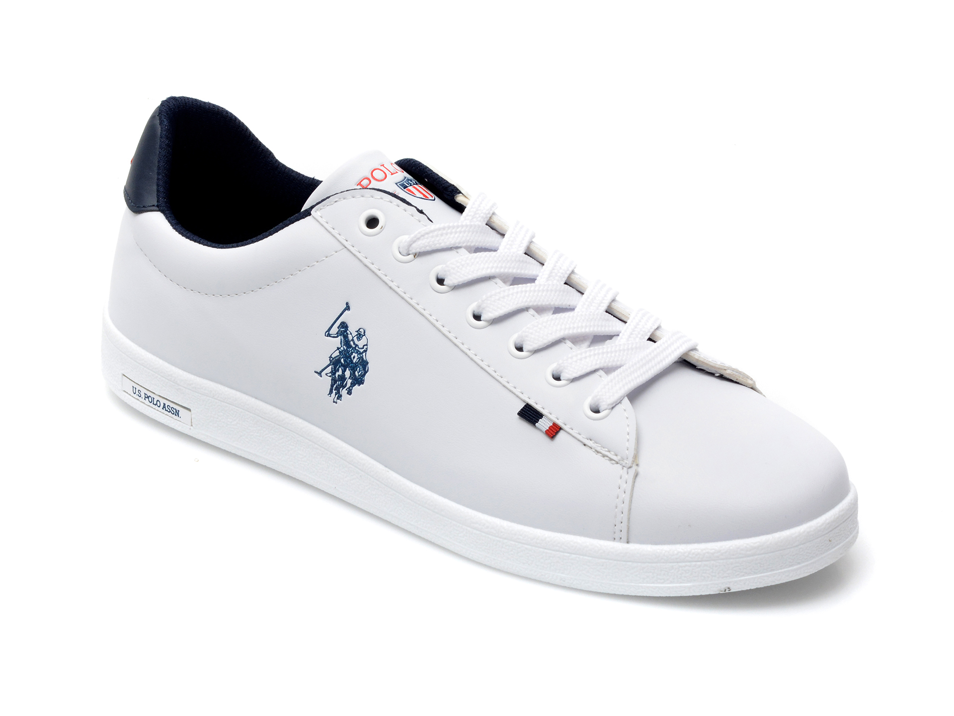 Pantofi sport US POLO ASSN albi, FRAN1FX, din piele ecologica imagine otter.ro