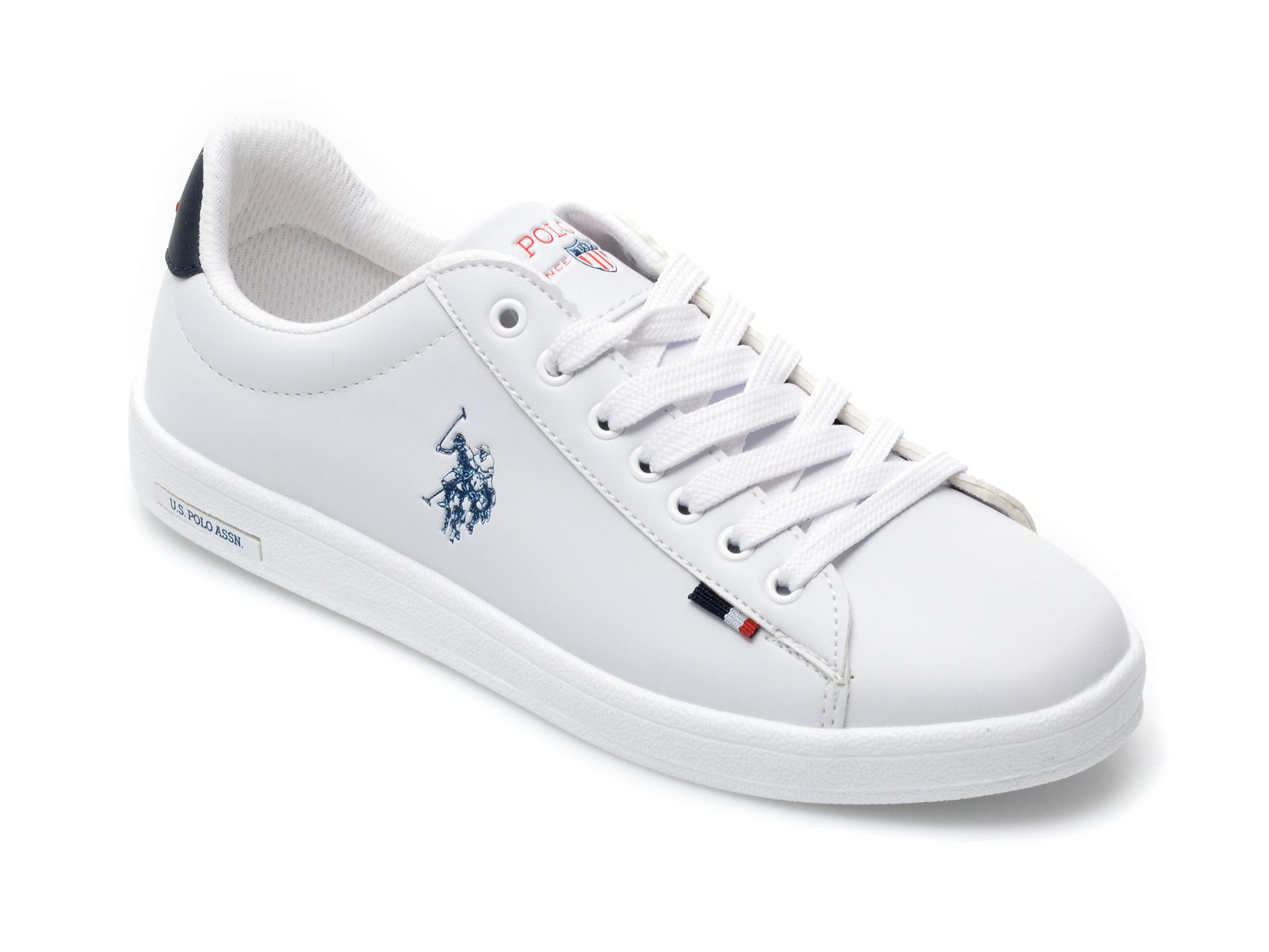 Pantofi sport US POLO ASSN albi, FRAWM1F, din piele ecologica imagine otter.ro 2021