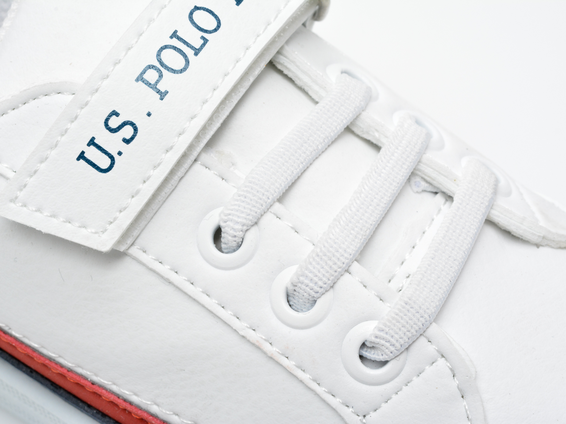 Pantofi sport US POLO ASSN albi, JAMA1FX, din piele ecologica - 2