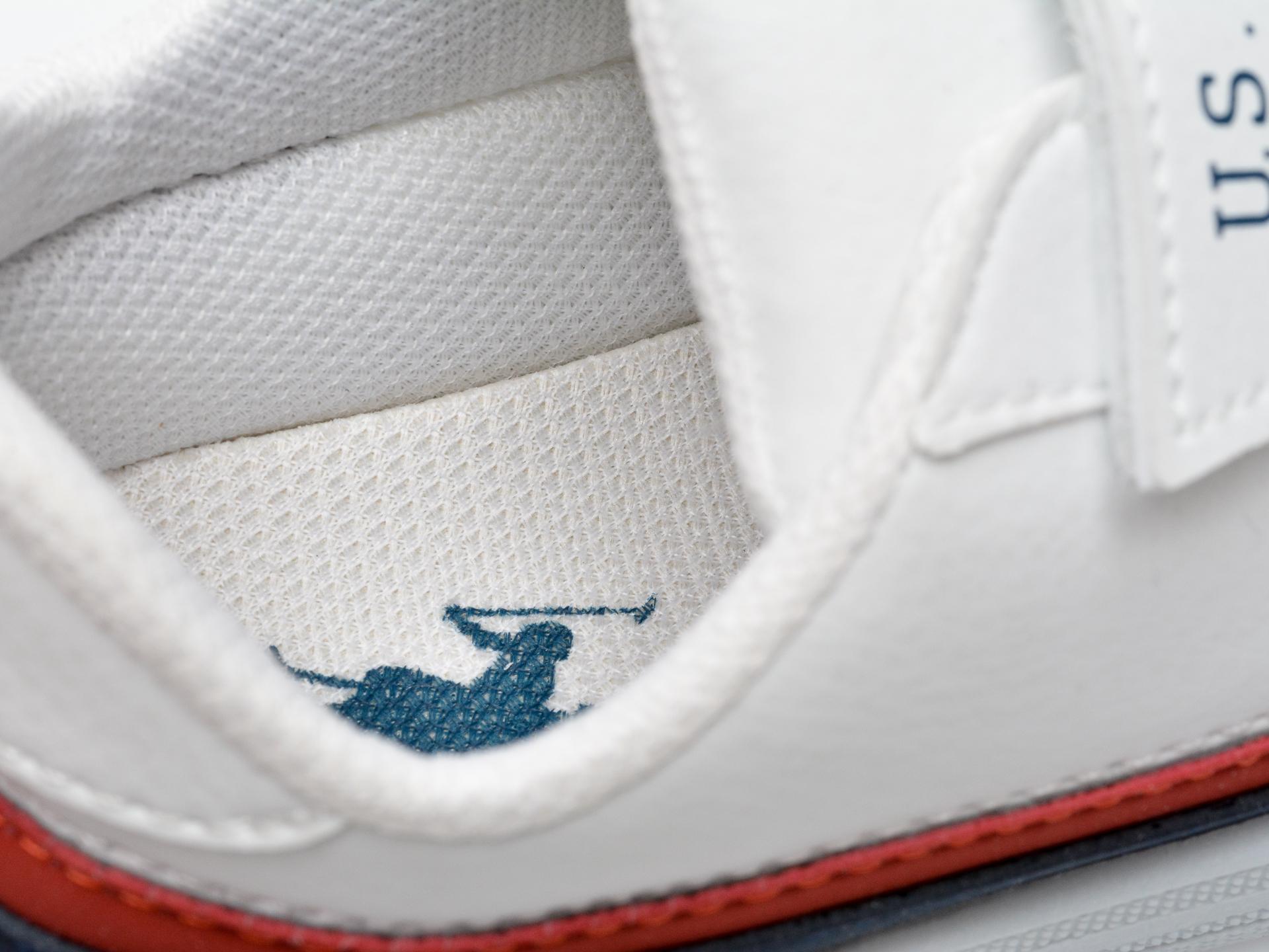 Pantofi sport US POLO ASSN albi, JAMA1FX, din piele ecologica - 3
