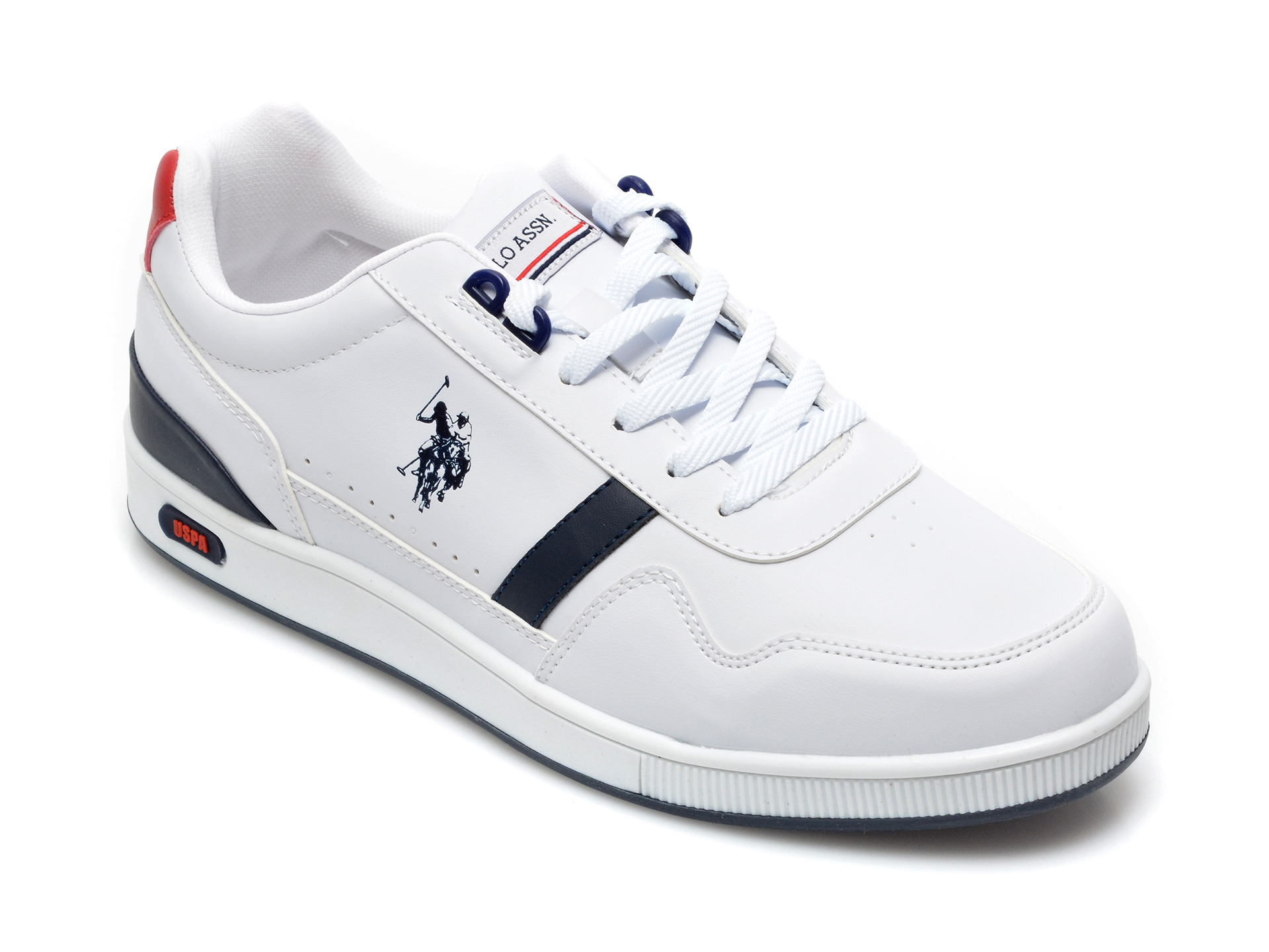Pantofi sport US POLO ASSN albi, ROLL, din piele ecologica imagine otter.ro 2021