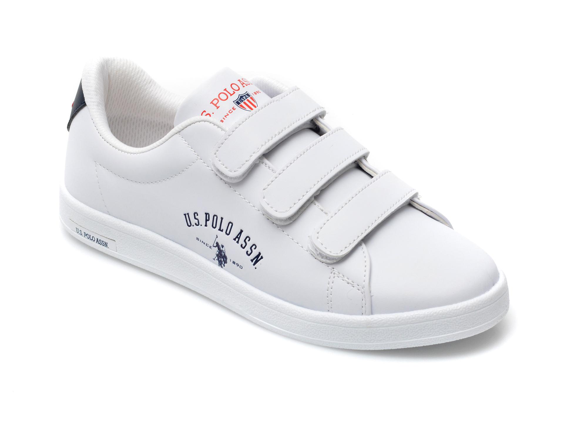 Pantofi sport US POLO ASSN albi, SINWM1F, din piele ecologica imagine otter.ro 2021