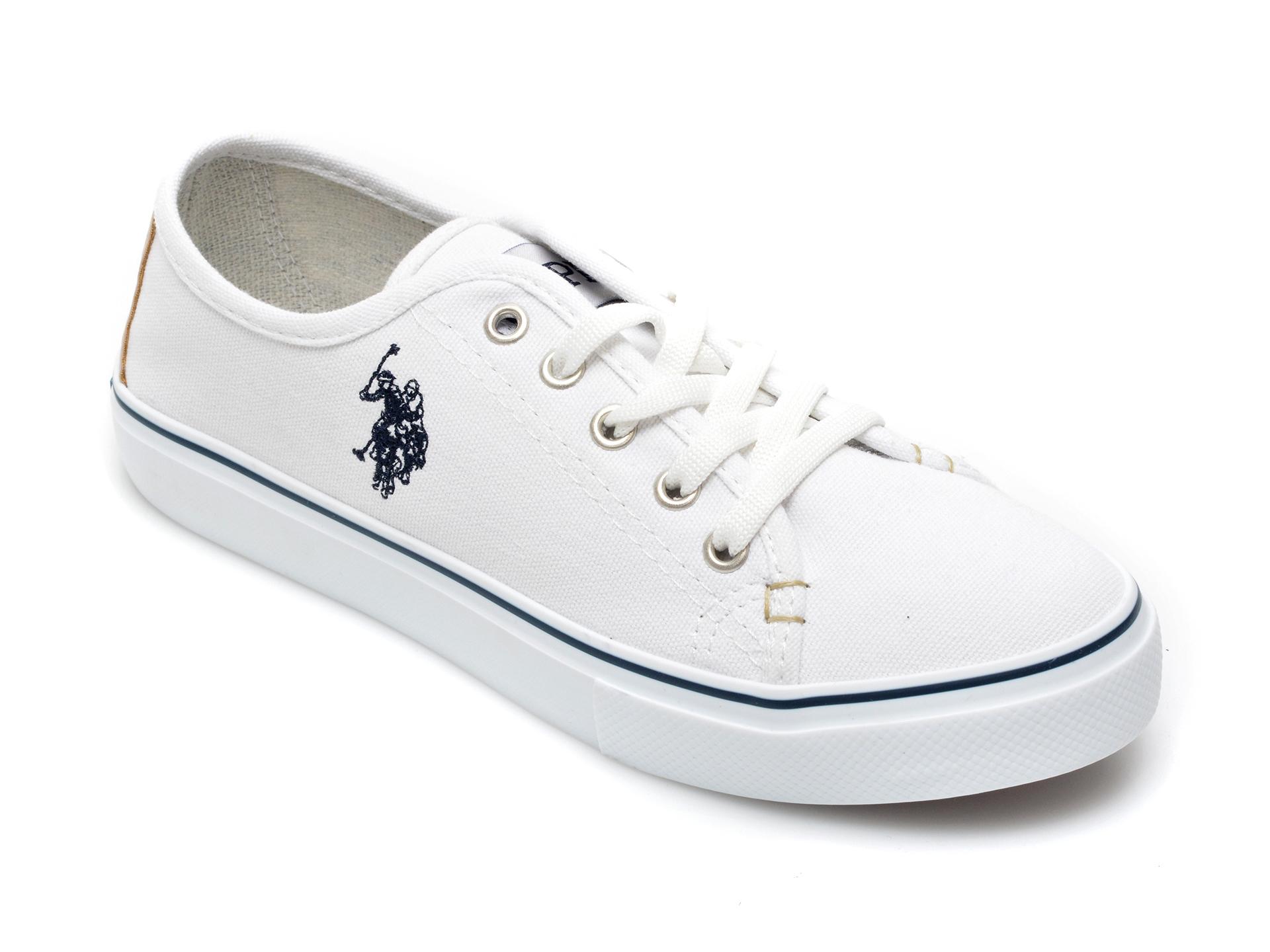 Pantofi sport US POLO ASSN albi, TOGA1FX, din material textil imagine otter.ro 2021