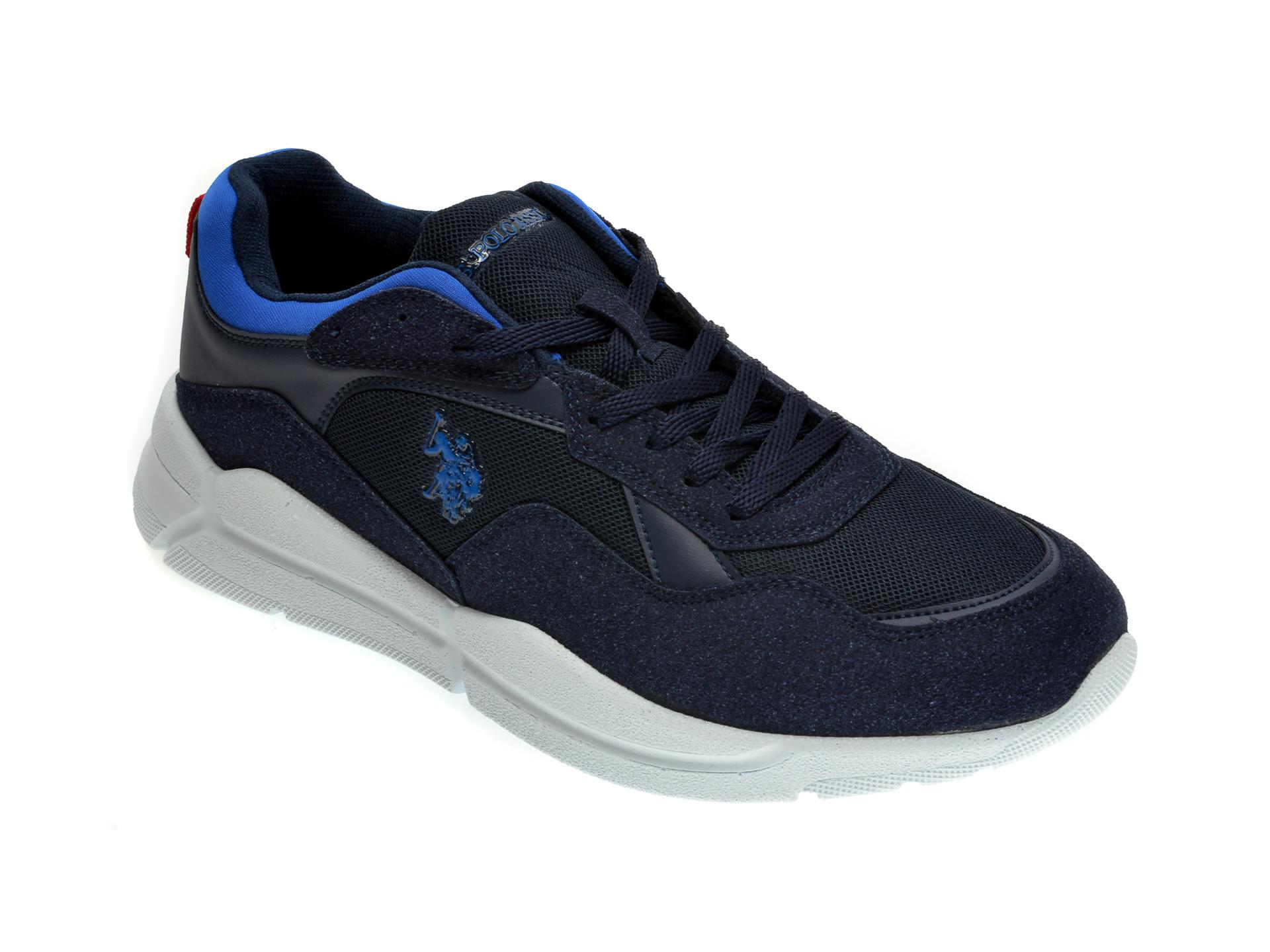Pantofi sport US POLO ASSN bleumarin, 489363, din material textil si piele ecologica imagine