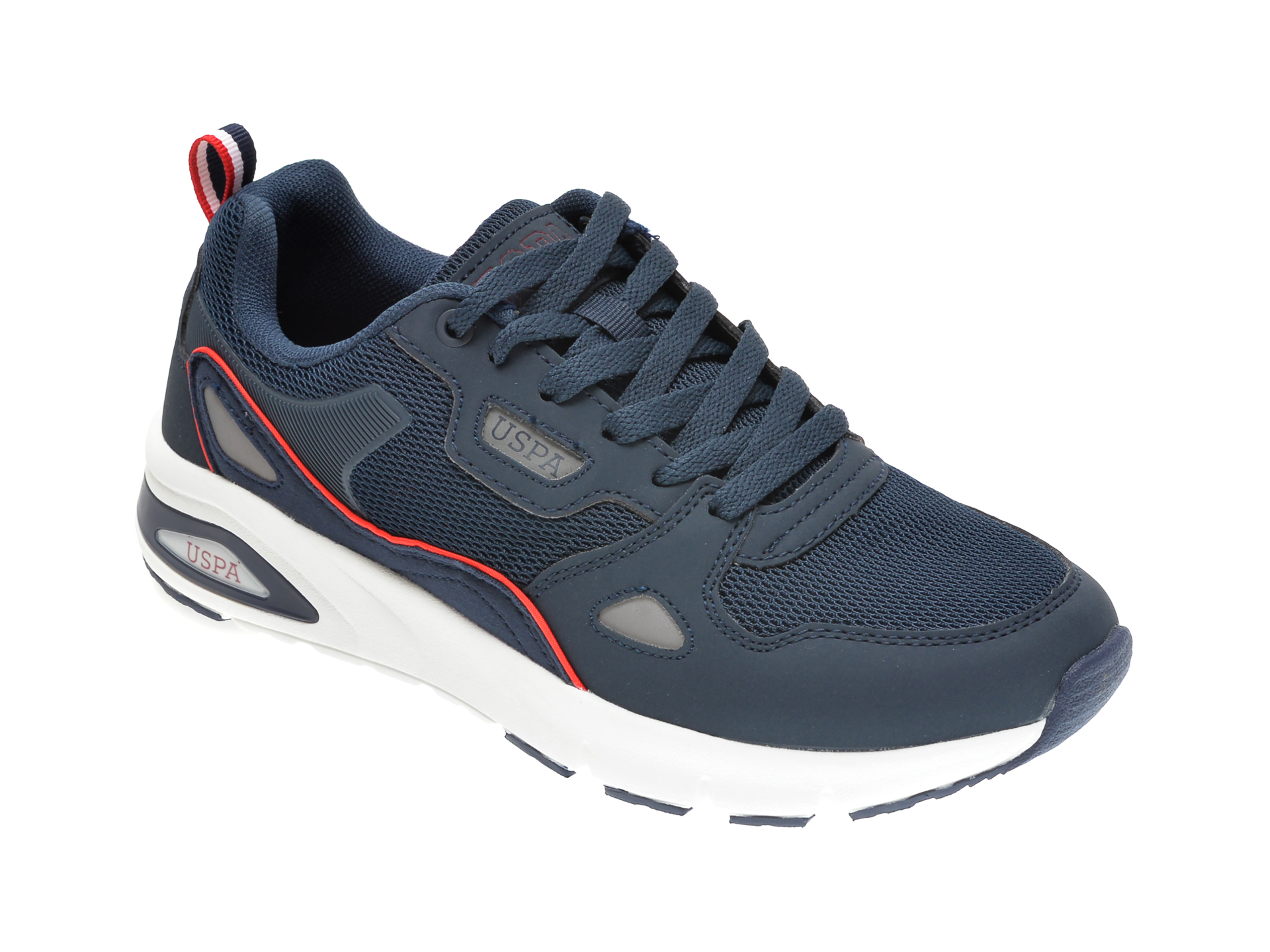 Pantofi sport US POLO ASSN bleumarin, 489901, din piele ecologica New