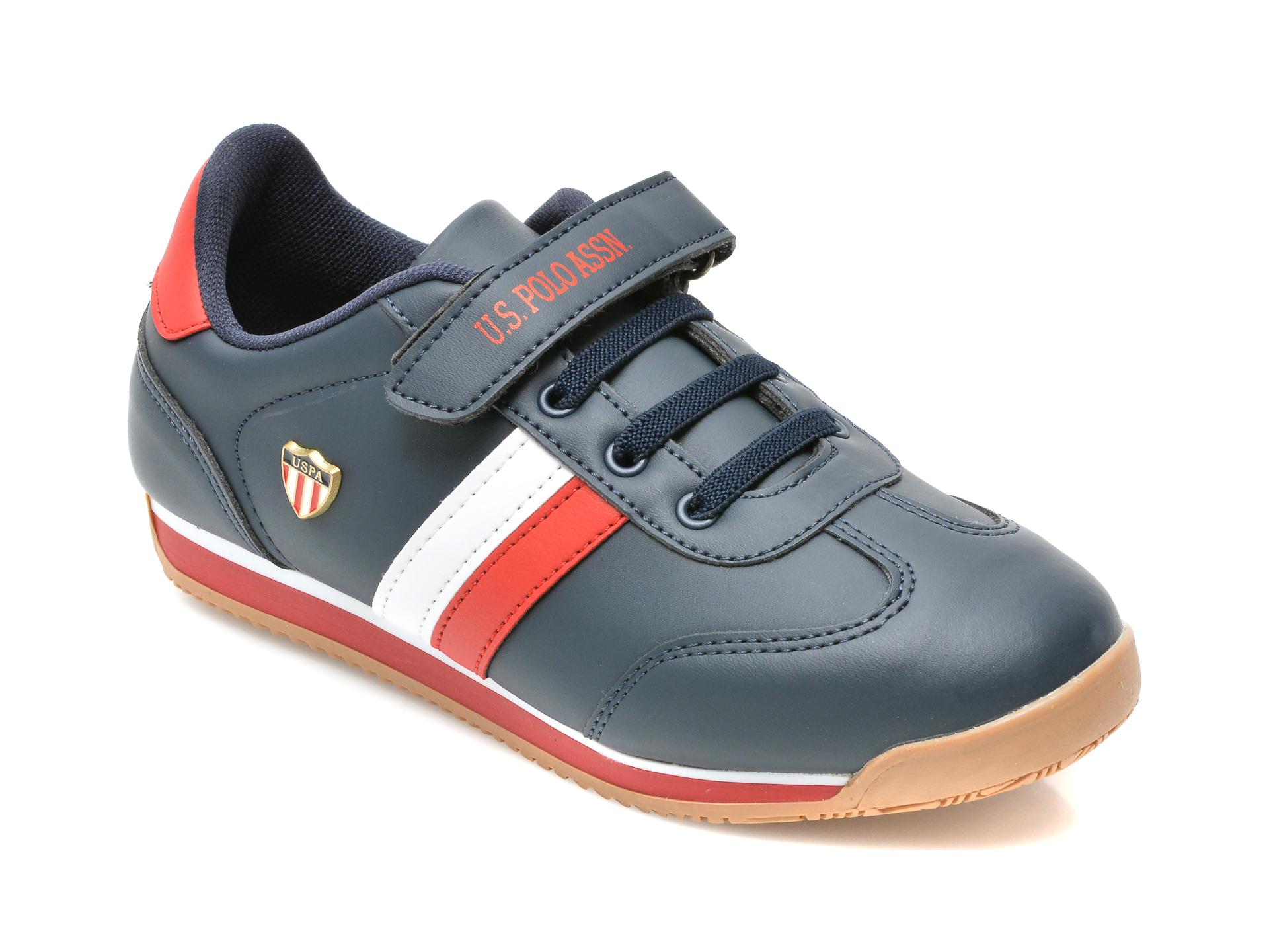 Pantofi sport US POLO ASSN bleumarin, BONI WT, din piele ecologica