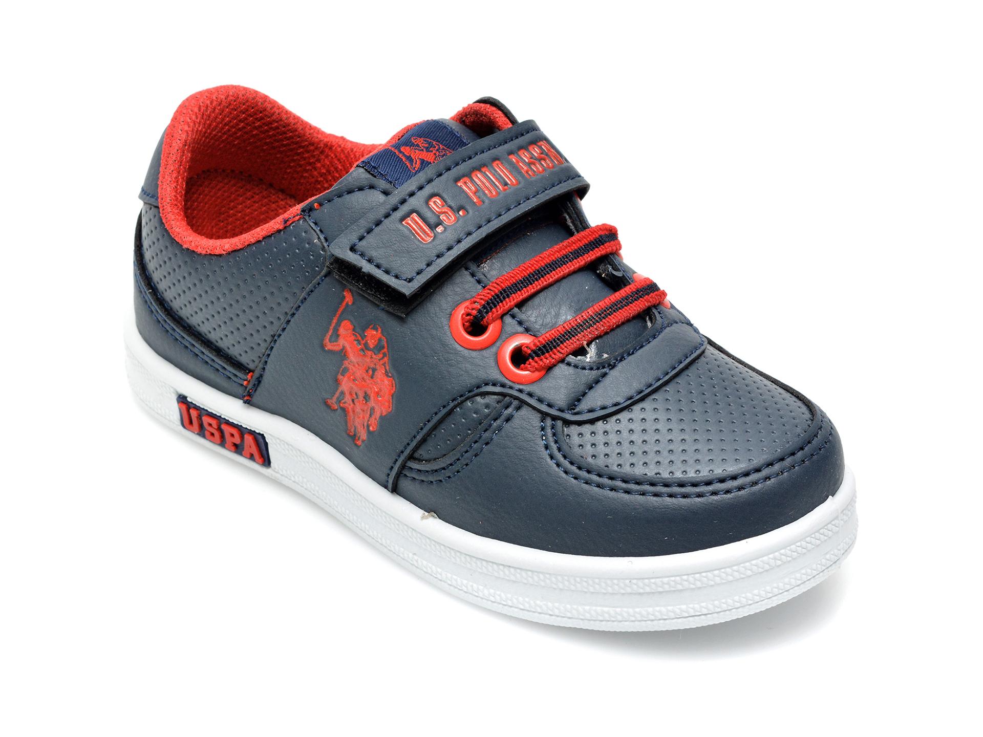 Pantofi sport US POLO ASSN bleumarin, CAME1FX, din piele ecologica