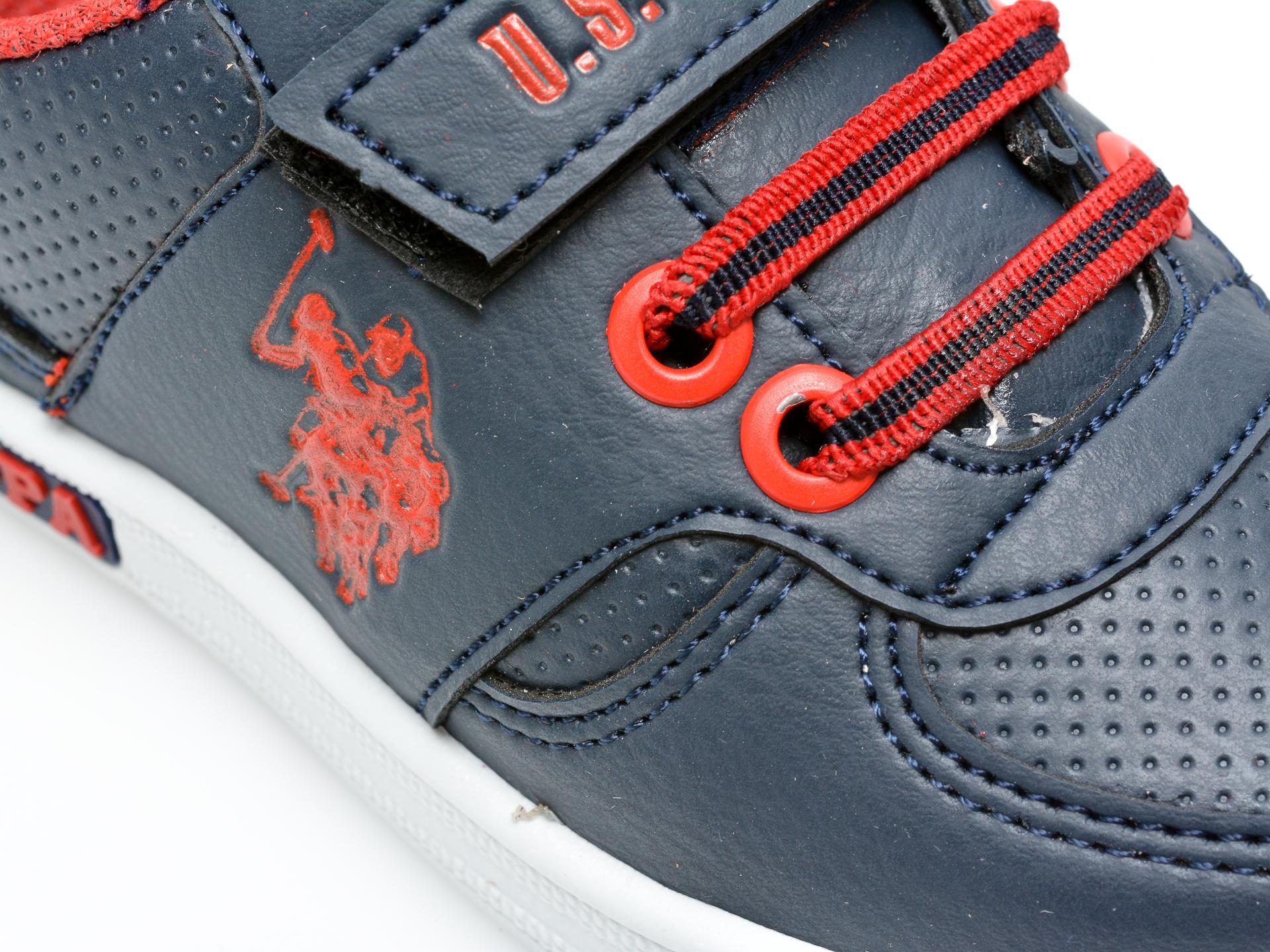 Pantofi sport US POLO ASSN bleumarin, CAME1FX, din piele ecologica - 2