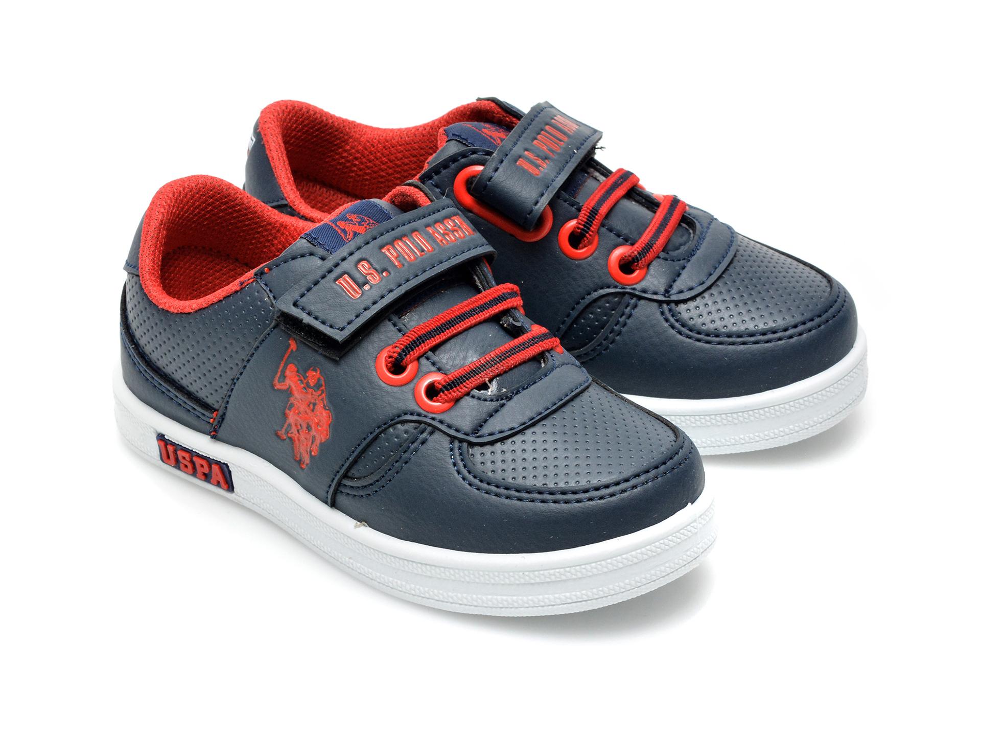 Pantofi sport US POLO ASSN bleumarin, CAME1FX, din piele ecologica - 4