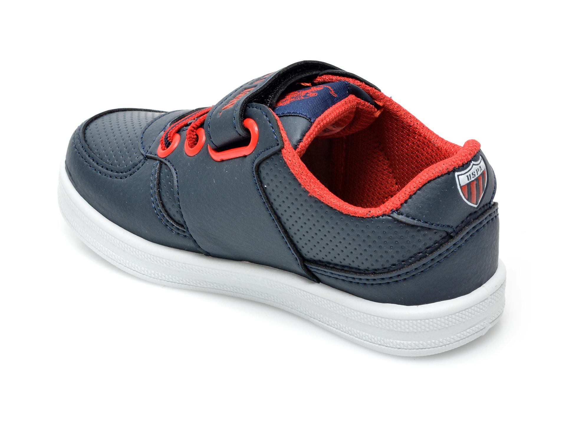 Pantofi sport US POLO ASSN bleumarin, CAME1FX, din piele ecologica - 5