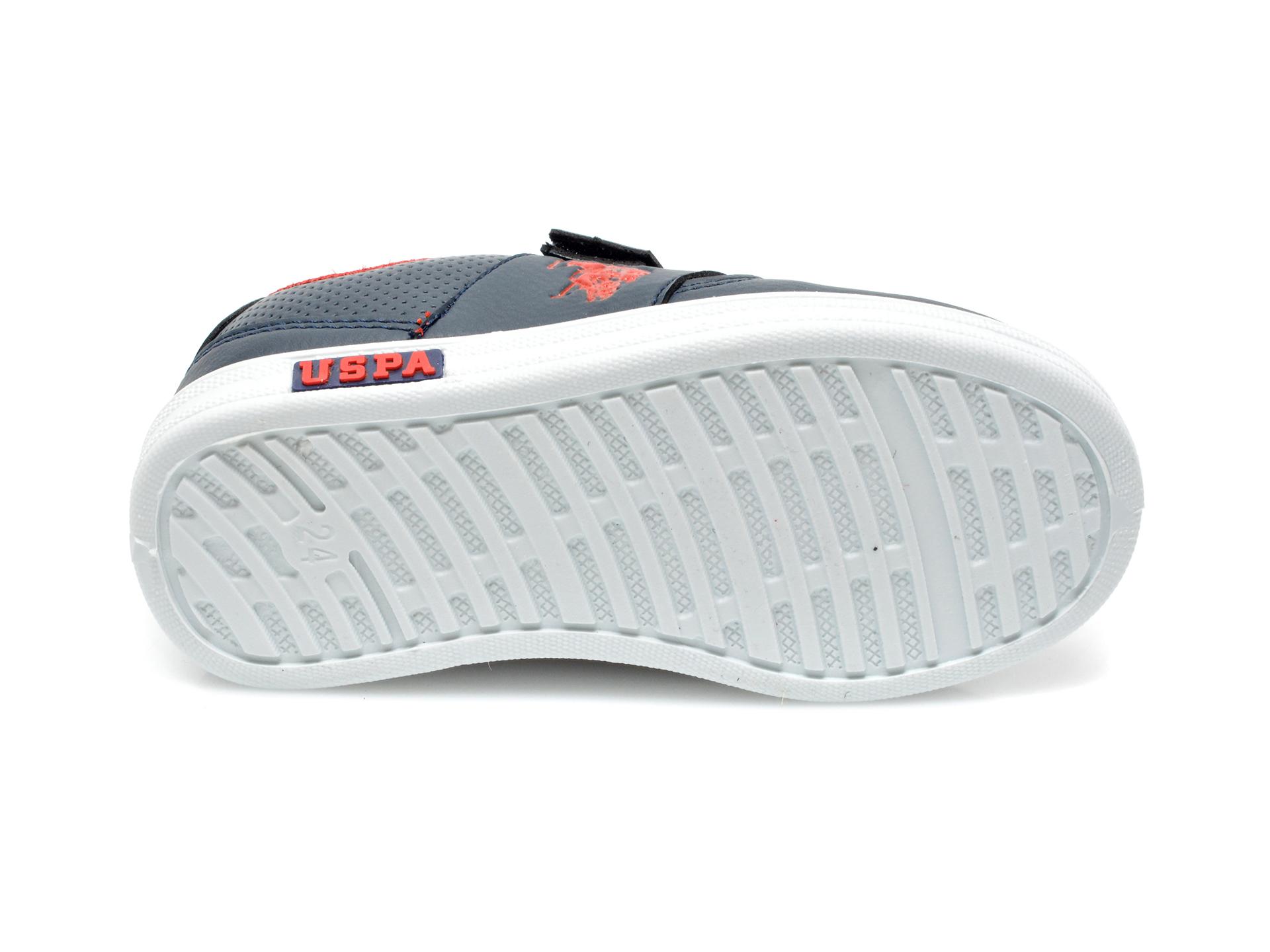 Pantofi sport US POLO ASSN bleumarin, CAME1FX, din piele ecologica - 7