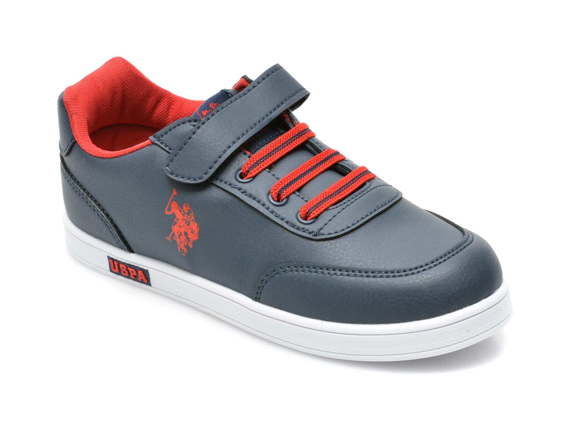 Pantofi sport US POLO ASSN bleumarin, CAMERON WT, din piele ecologica