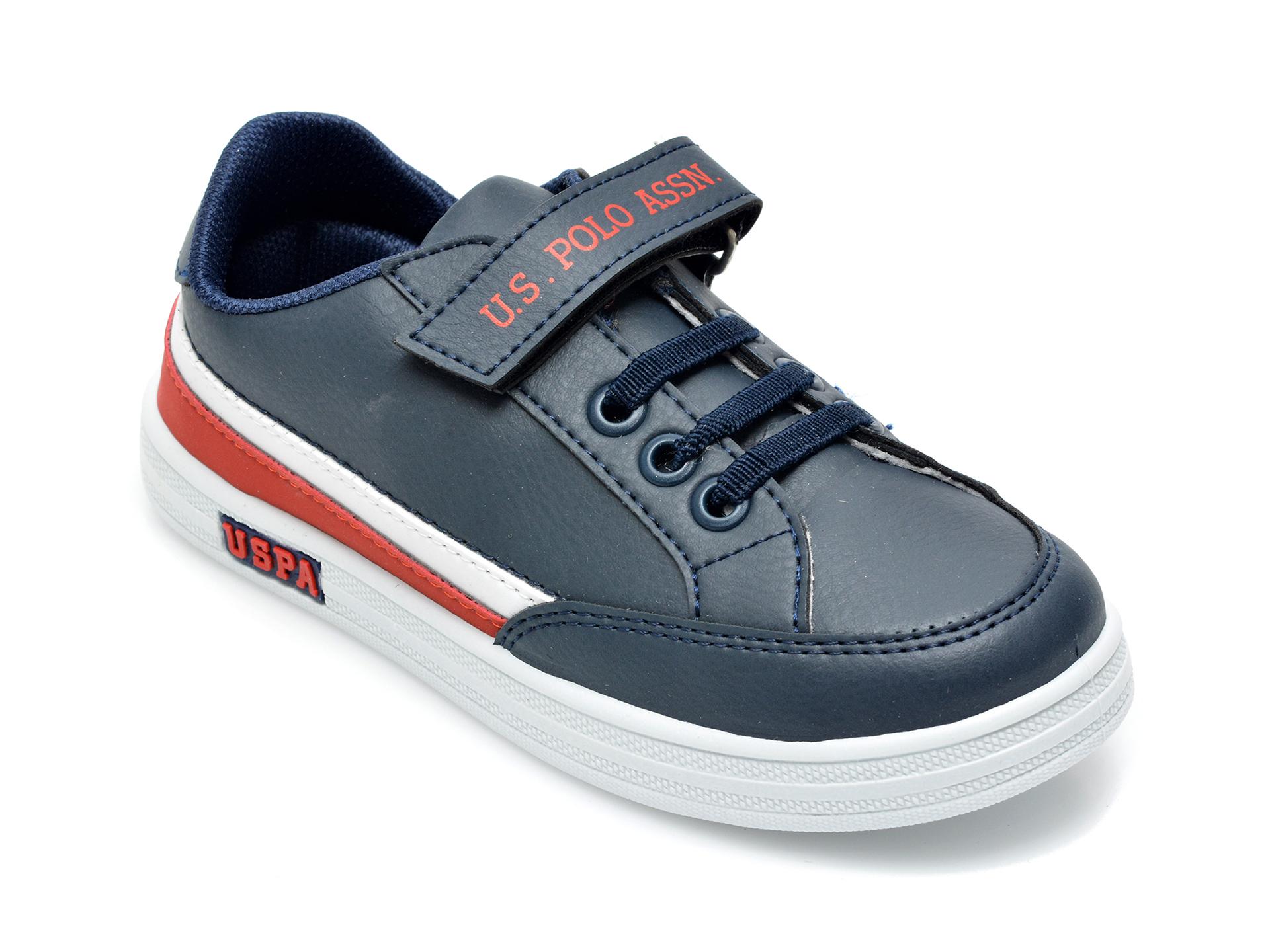 Pantofi sport US POLO ASSN bleumarin, JAMA1FX, din piele ecologica