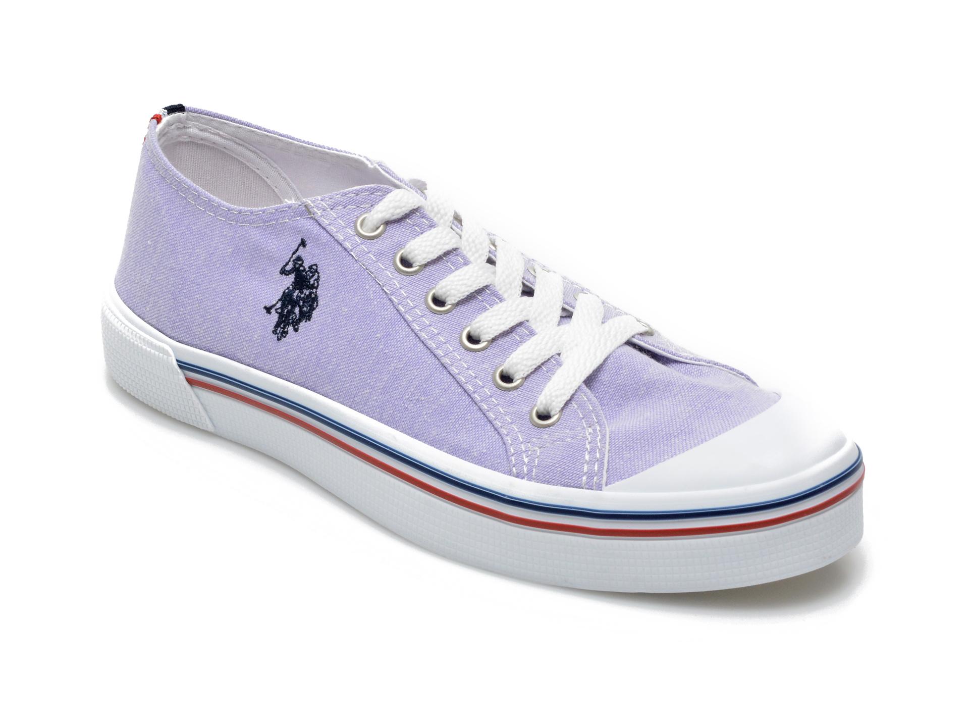 Pantofi sport US POLO ASSN mov, PENE1FX, din material textil imagine otter.ro 2021