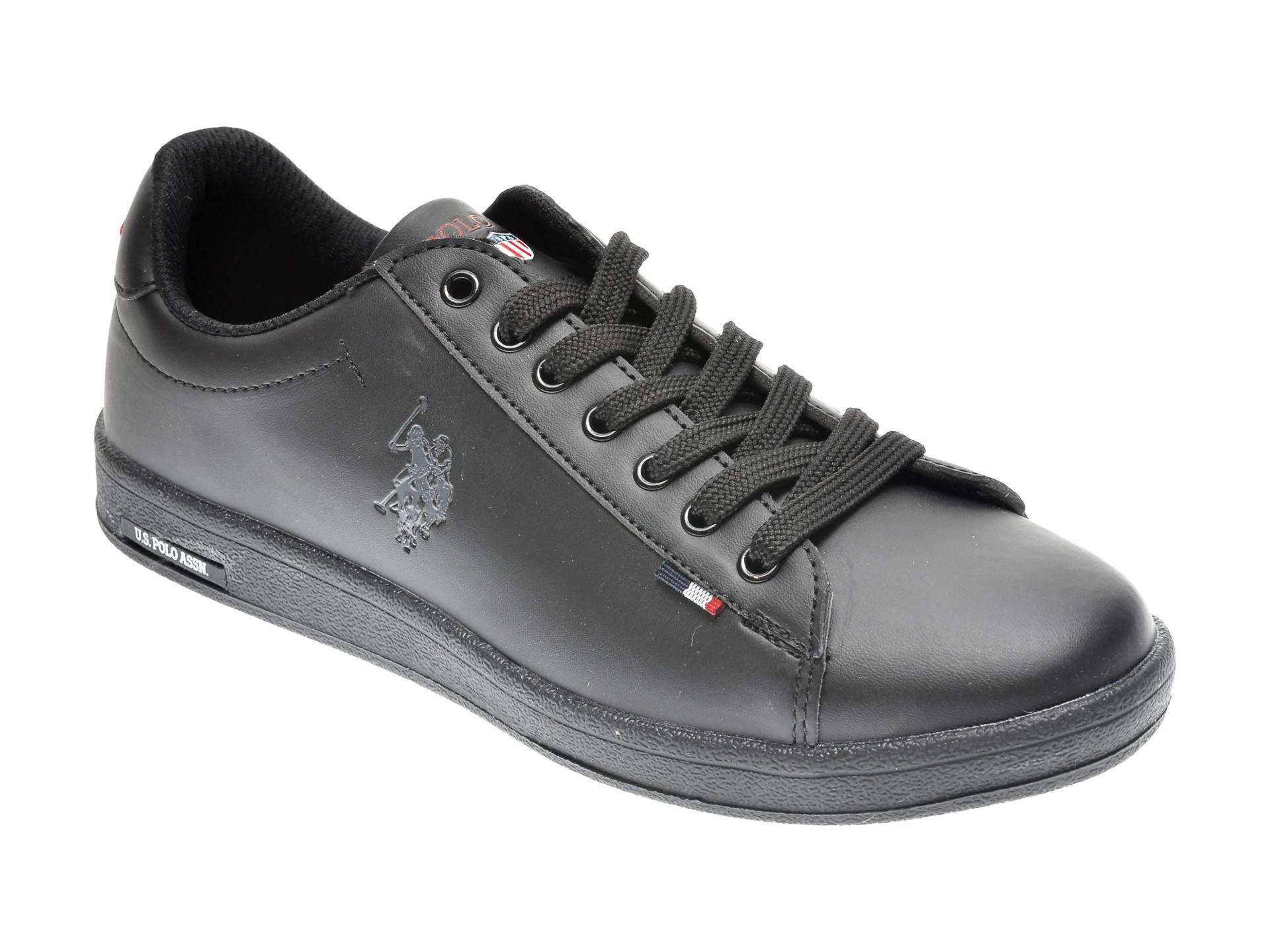 Pantofi sport US POLO ASSN negri, 249587, din piele ecologica