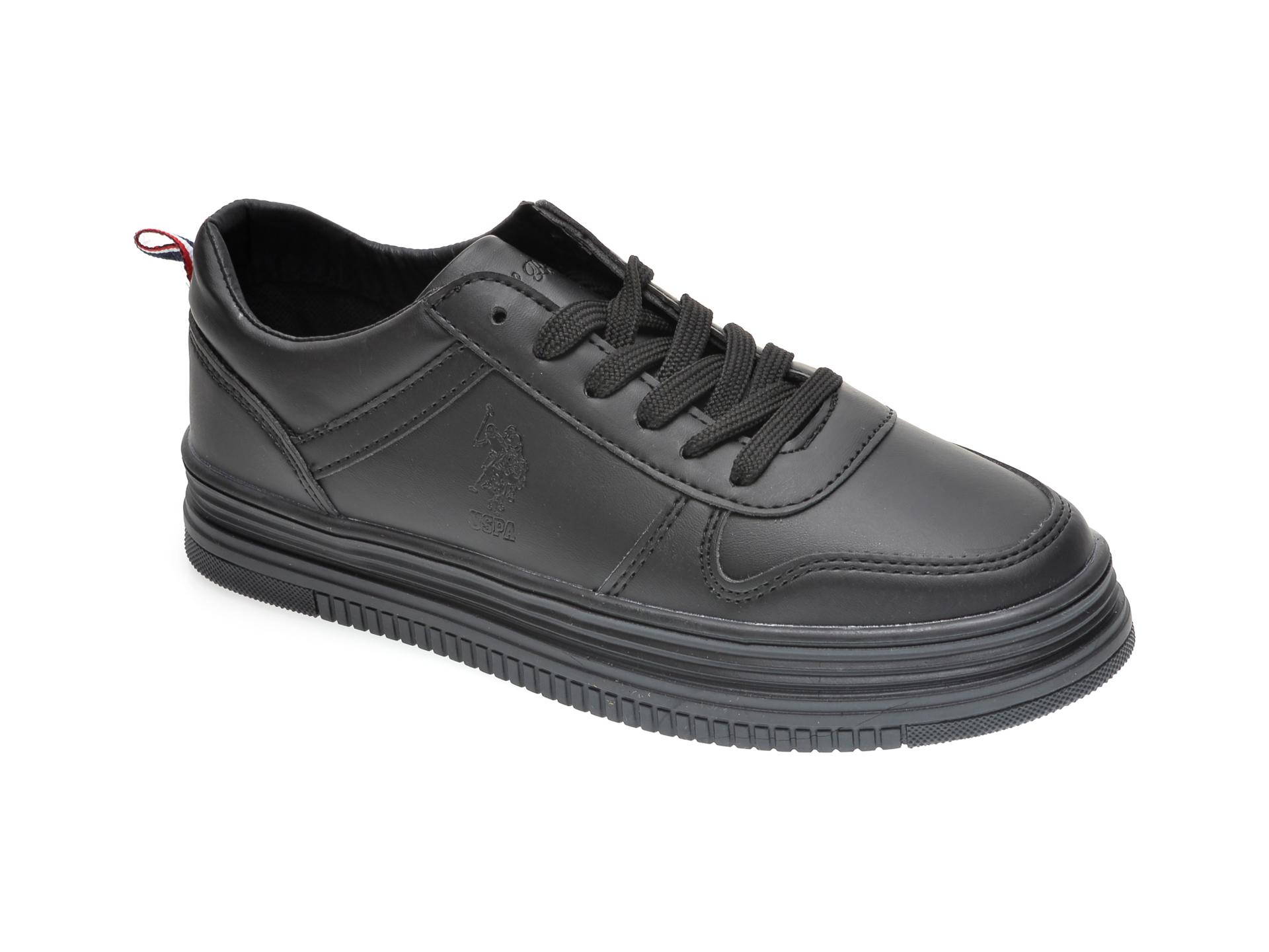 Pantofi sport US POLO ASSN negri, 357807, din piele ecologica imagine