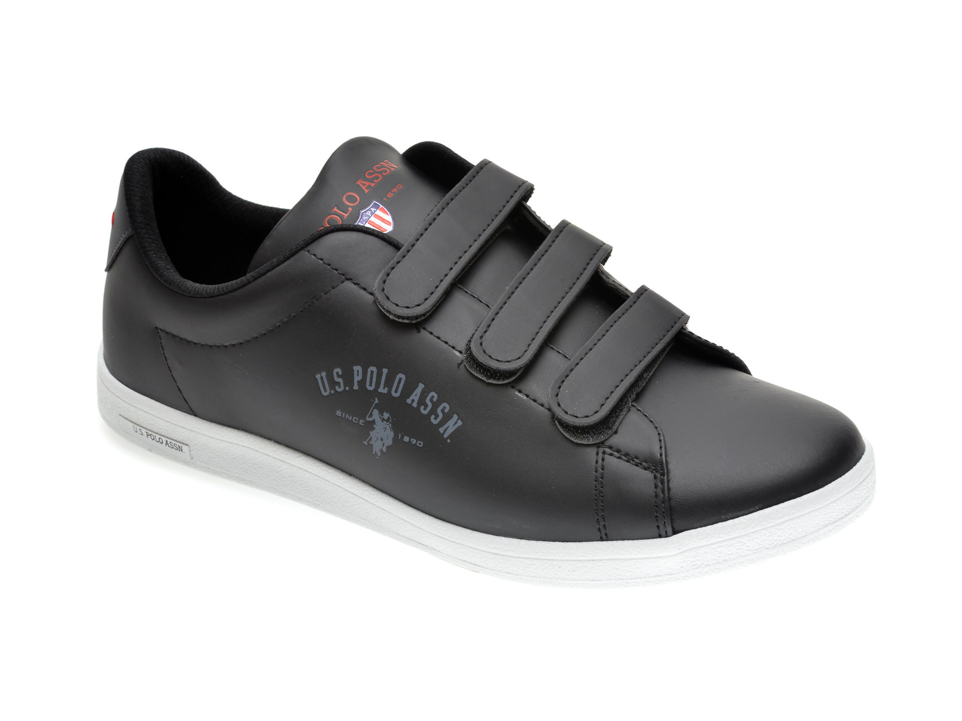 Pantofi sport US POLO ASSN negri, 371930, din piele ecologica imagine